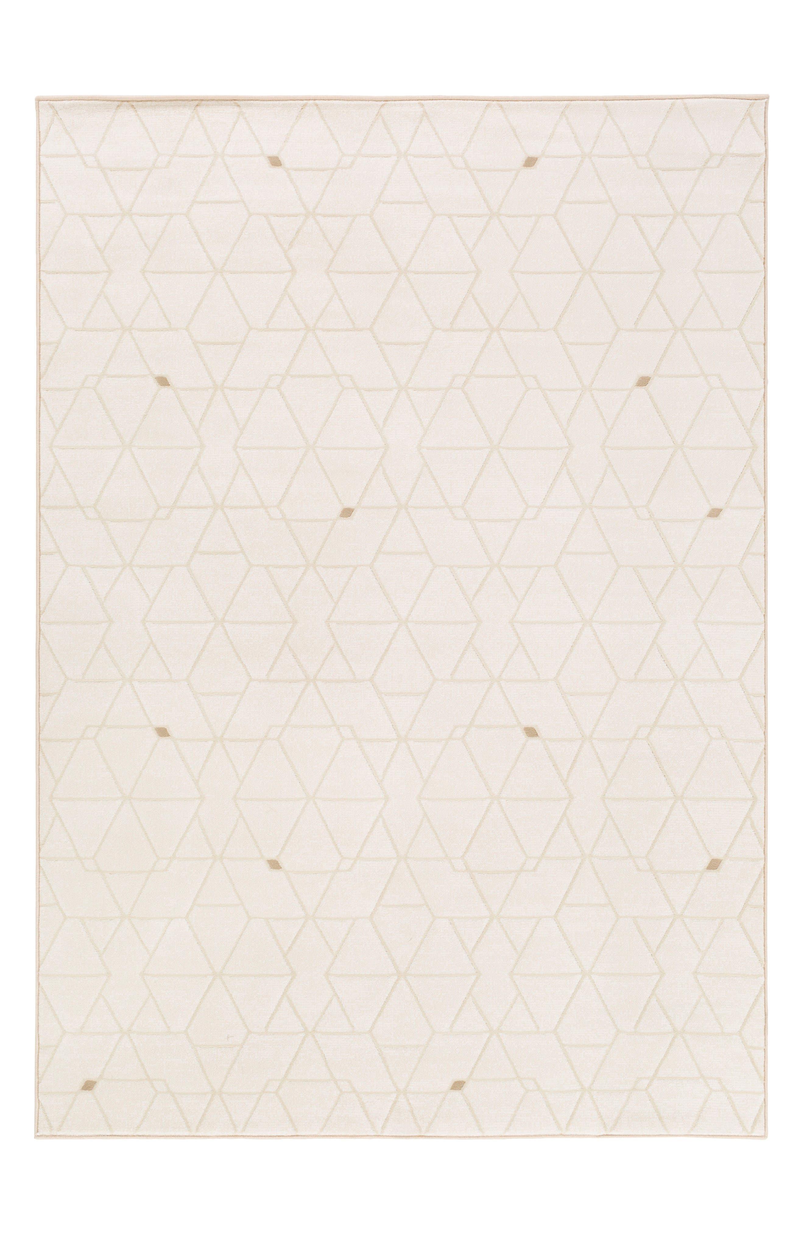 Geometric Rug,                         Main,                         color, White