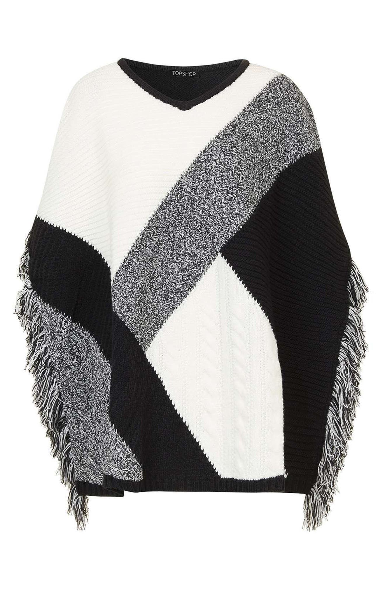 Alternate Image 3  - Topshop Colorblock Poncho