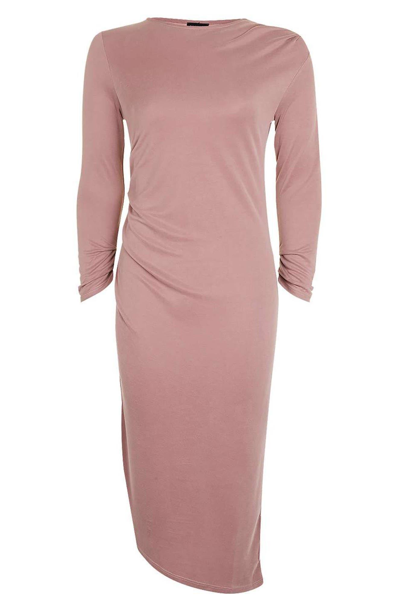 Alternate Image 5  - Topshop Drape Midi Dress