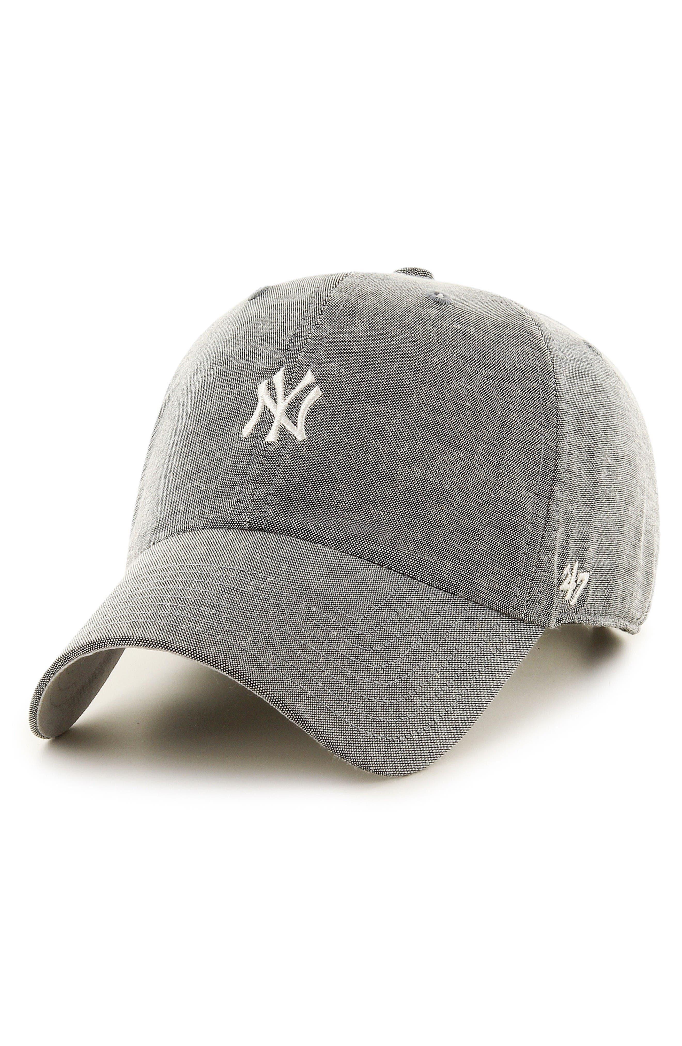 Monument Salute Clean Up NY Yankees Baseball Cap,                         Main,                         color, Gray