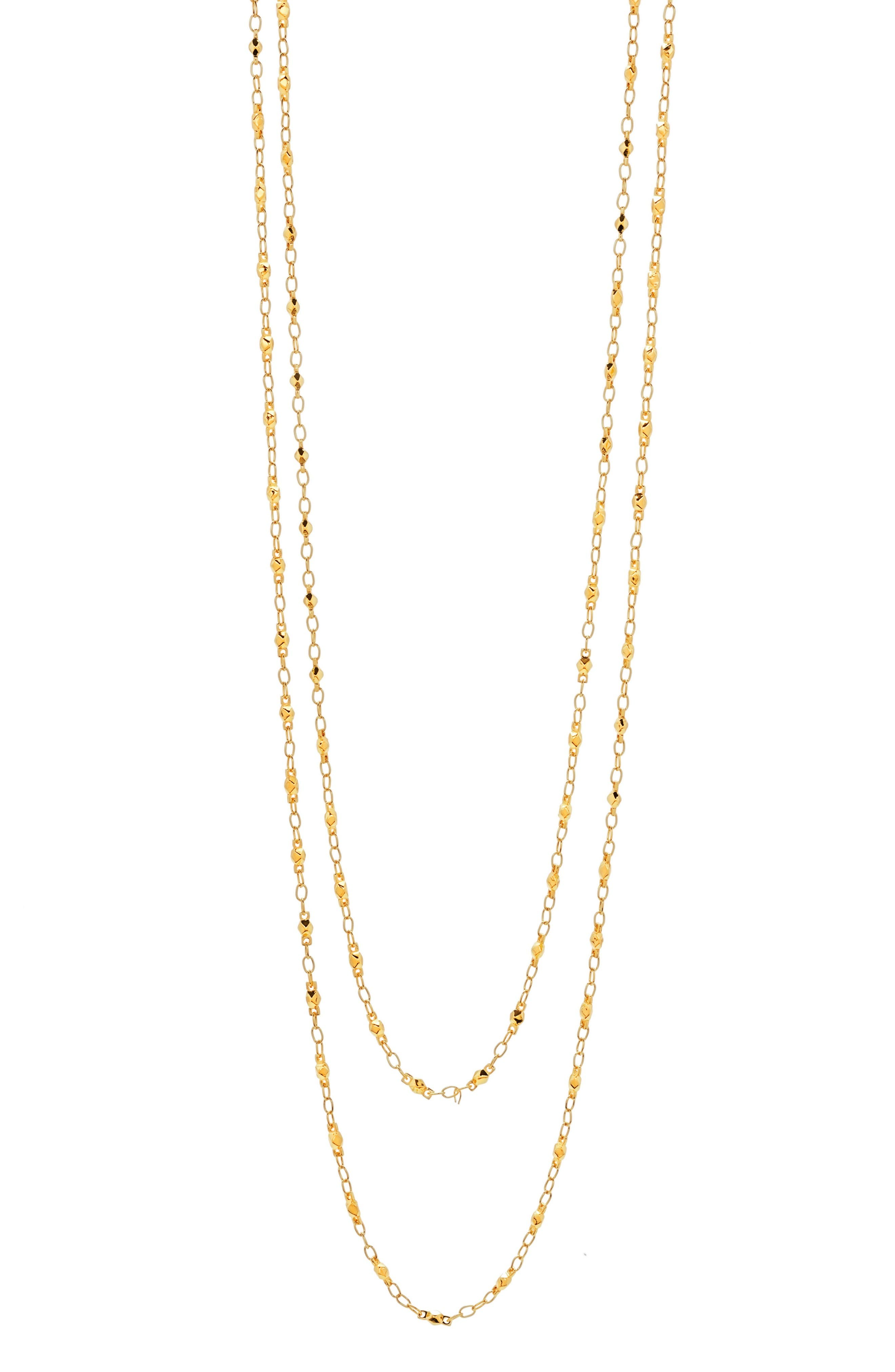 Multistrand Beaded Necklace,                             Alternate thumbnail 2, color,                             Gold