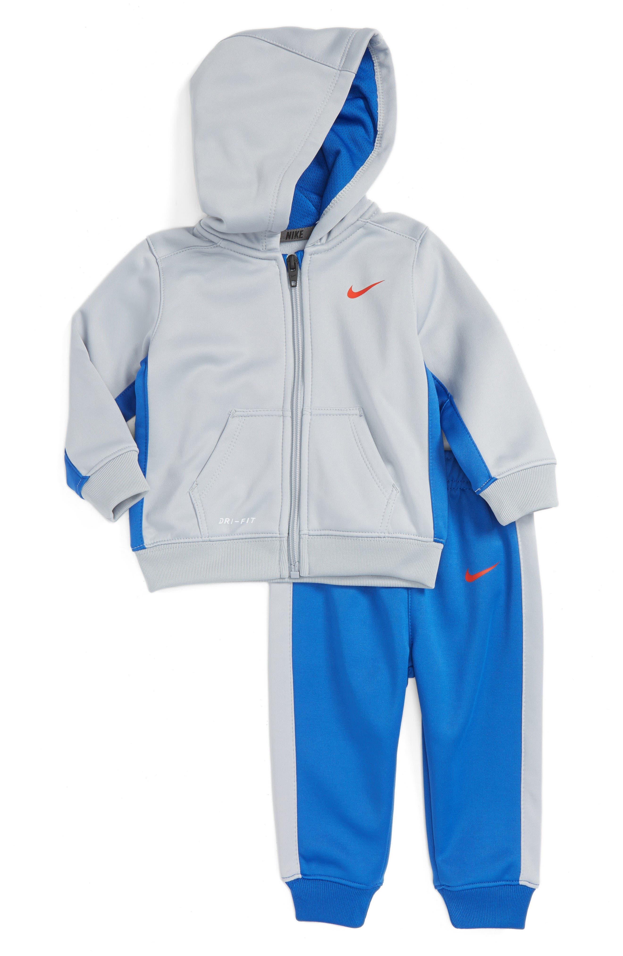 Main Image - Nike KO Therma-FIT Fleece Hoodie & Pants Set (Baby Boys)