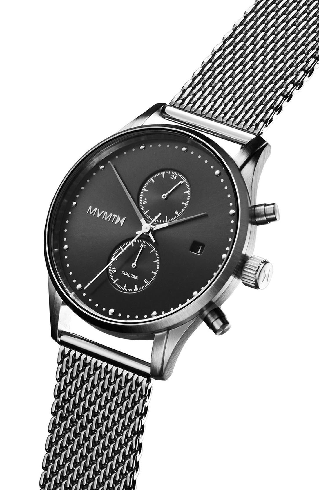 Alternate Image 3  - MVMT Voyager Chronograph Mesh Strap Watch, 42mm
