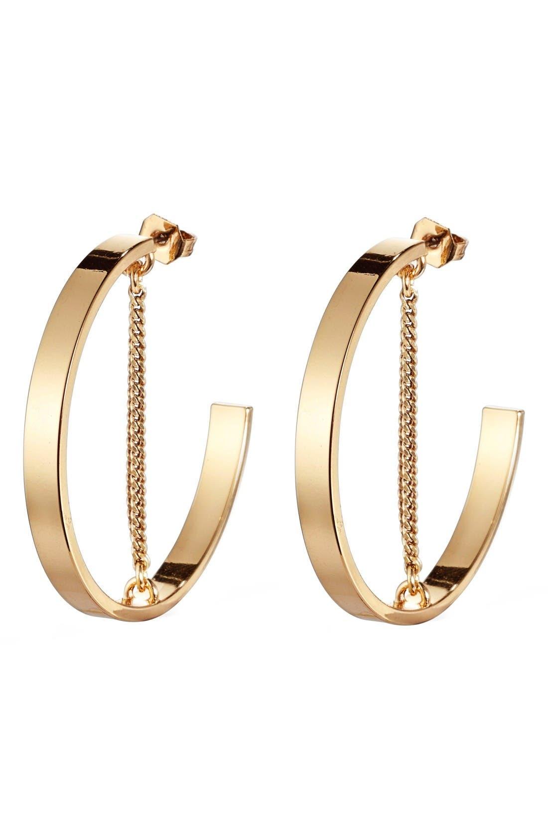 Mia Hoop Earrings,                         Main,                         color, Gold