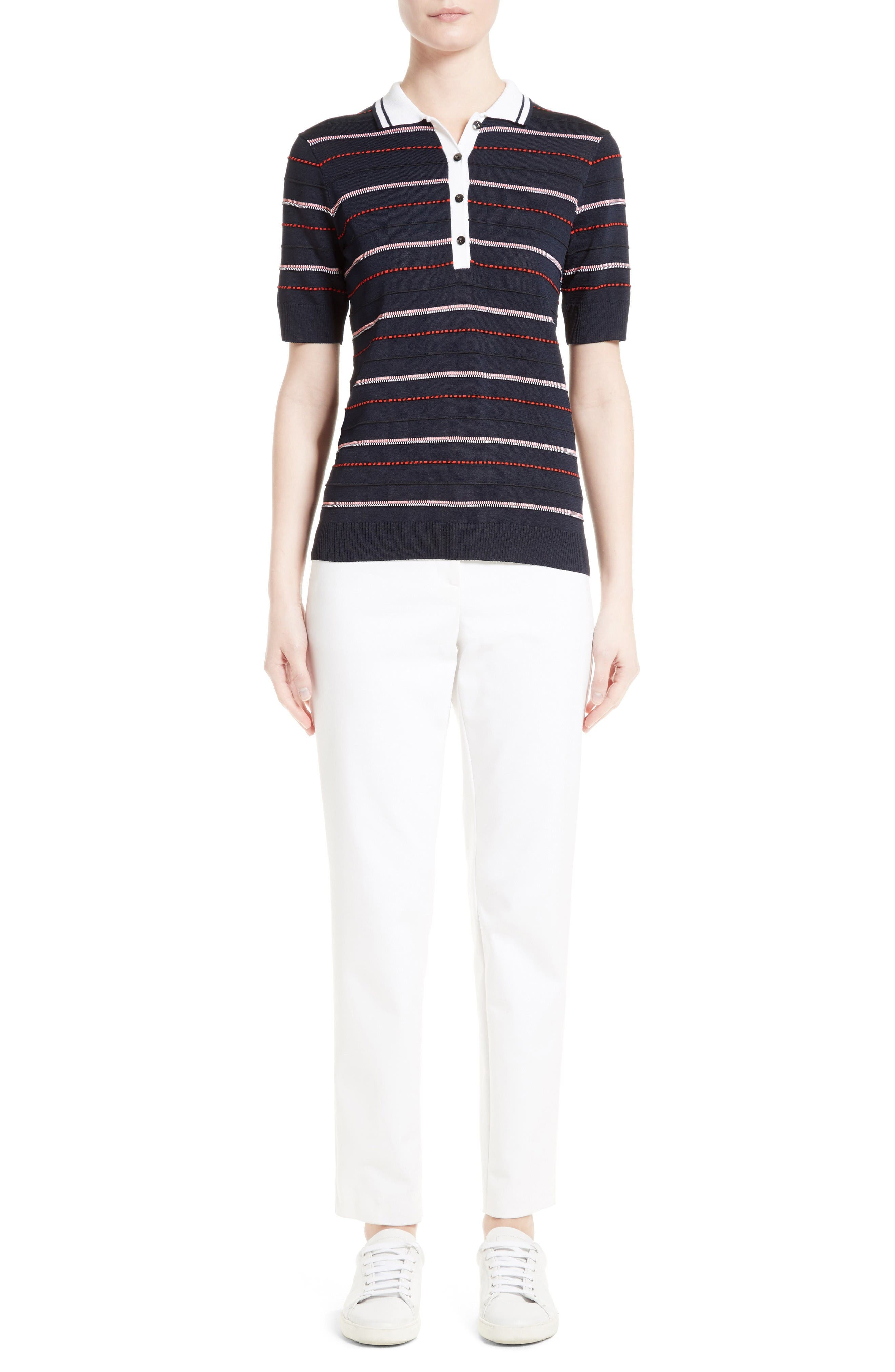 St. John Collection Polo & Pants Outfit with Accessories