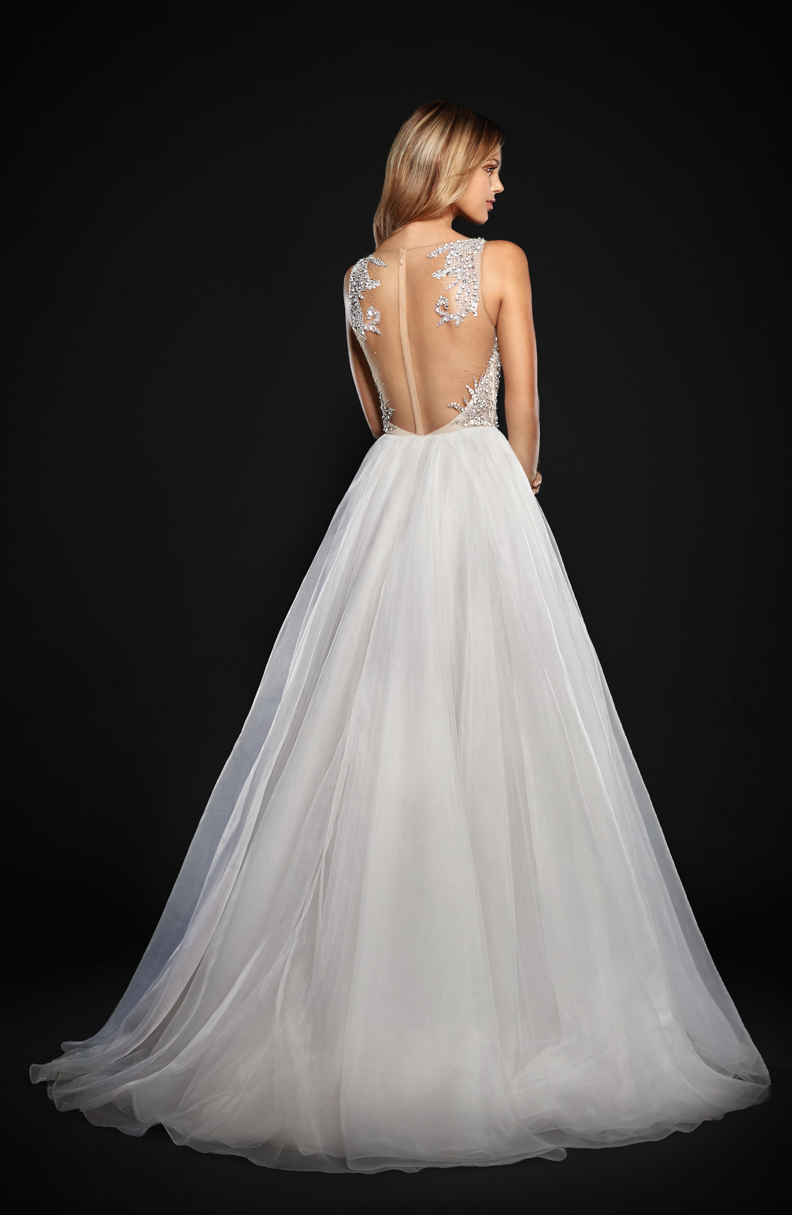 Kenny Organza A-Line Gown,                             Alternate thumbnail 2, color,                             Moondust
