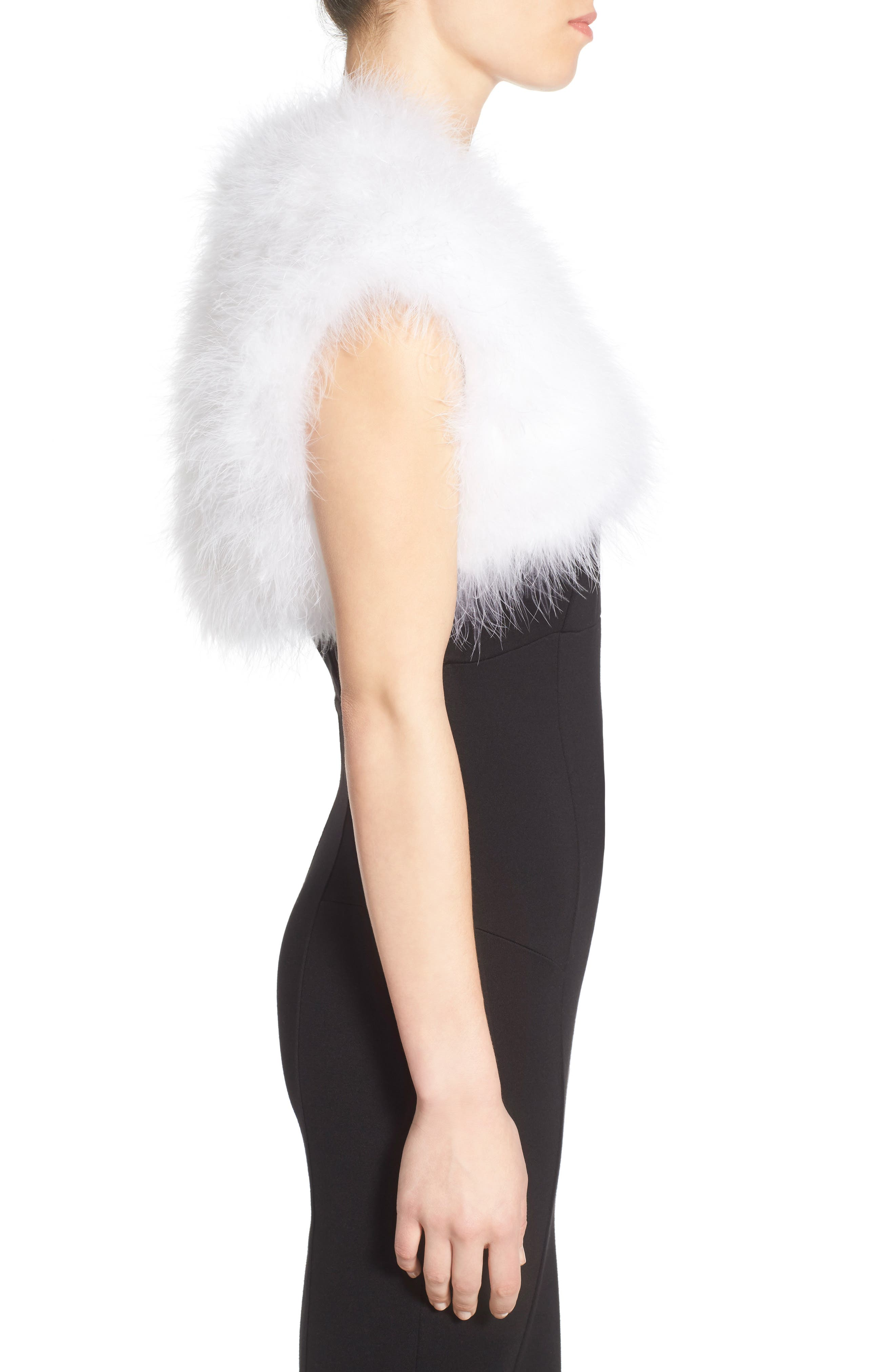 Alternate Image 3  - Badgley Mischka Feather Shrug