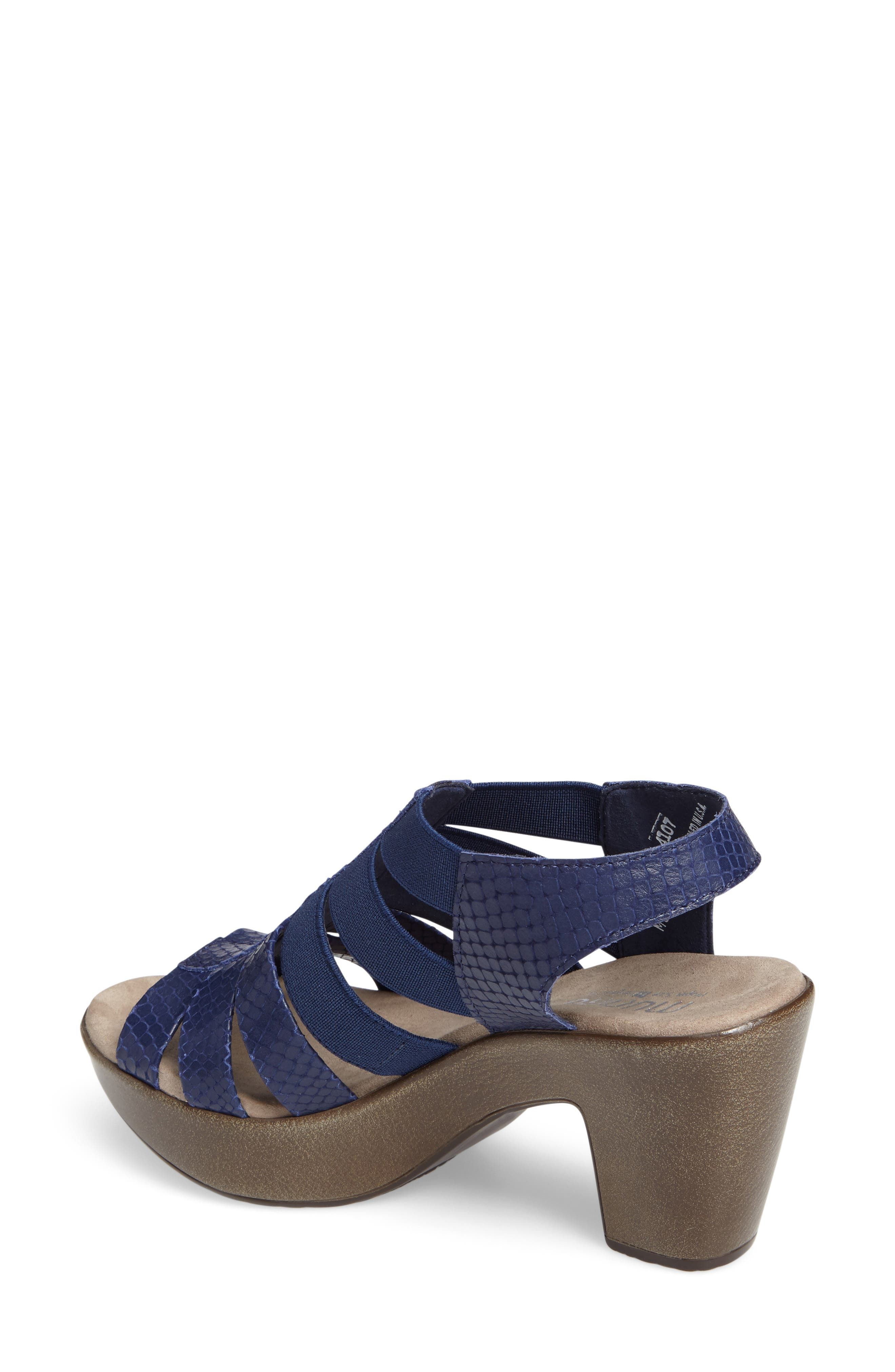 'Cookie' Slingback Sandal,                             Alternate thumbnail 2, color,                             Blue Leather