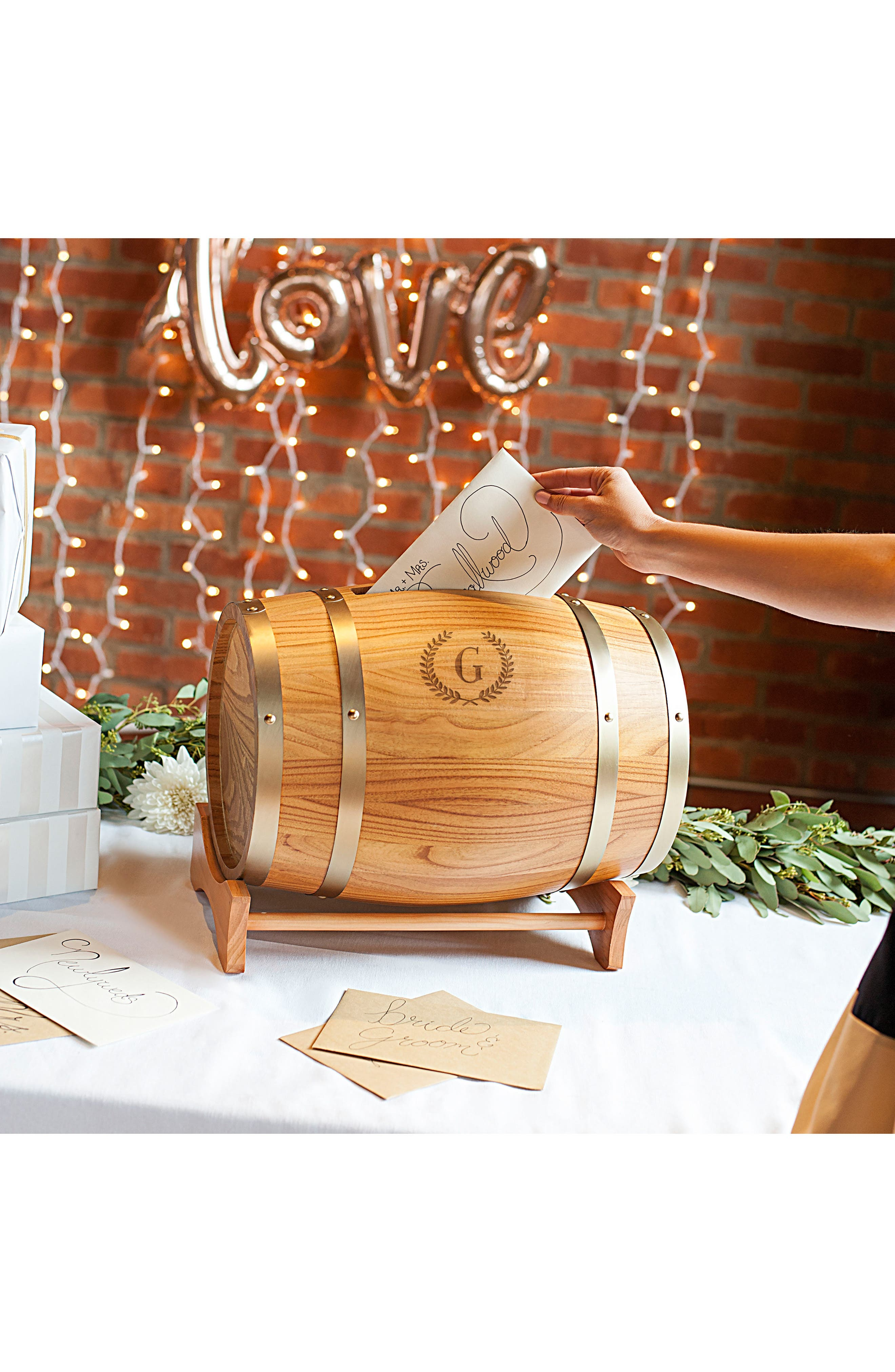 Alternate Image 5  - Cathy's Concepts Wine Barrel Reception Card Holder