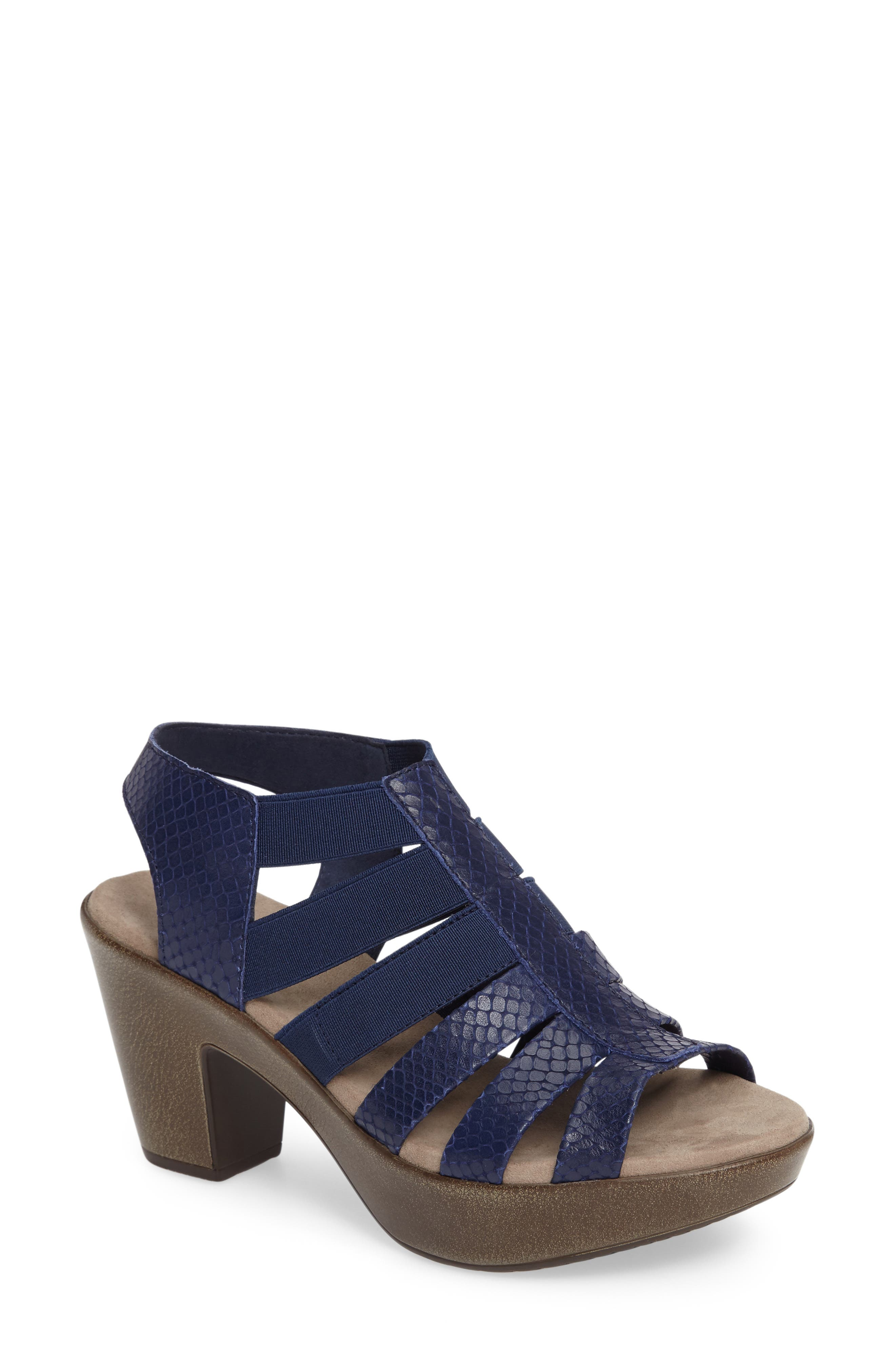 'Cookie' Slingback Sandal,                             Main thumbnail 1, color,                             Blue Leather