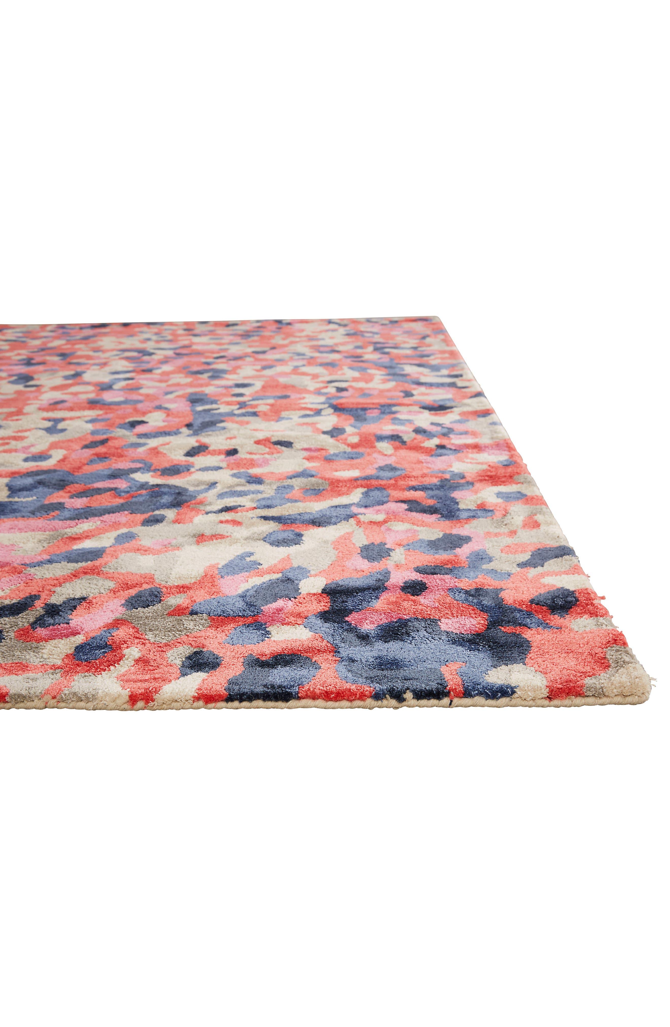 splatter paint rug,                             Alternate thumbnail 2, color,                             Pink/ Multi