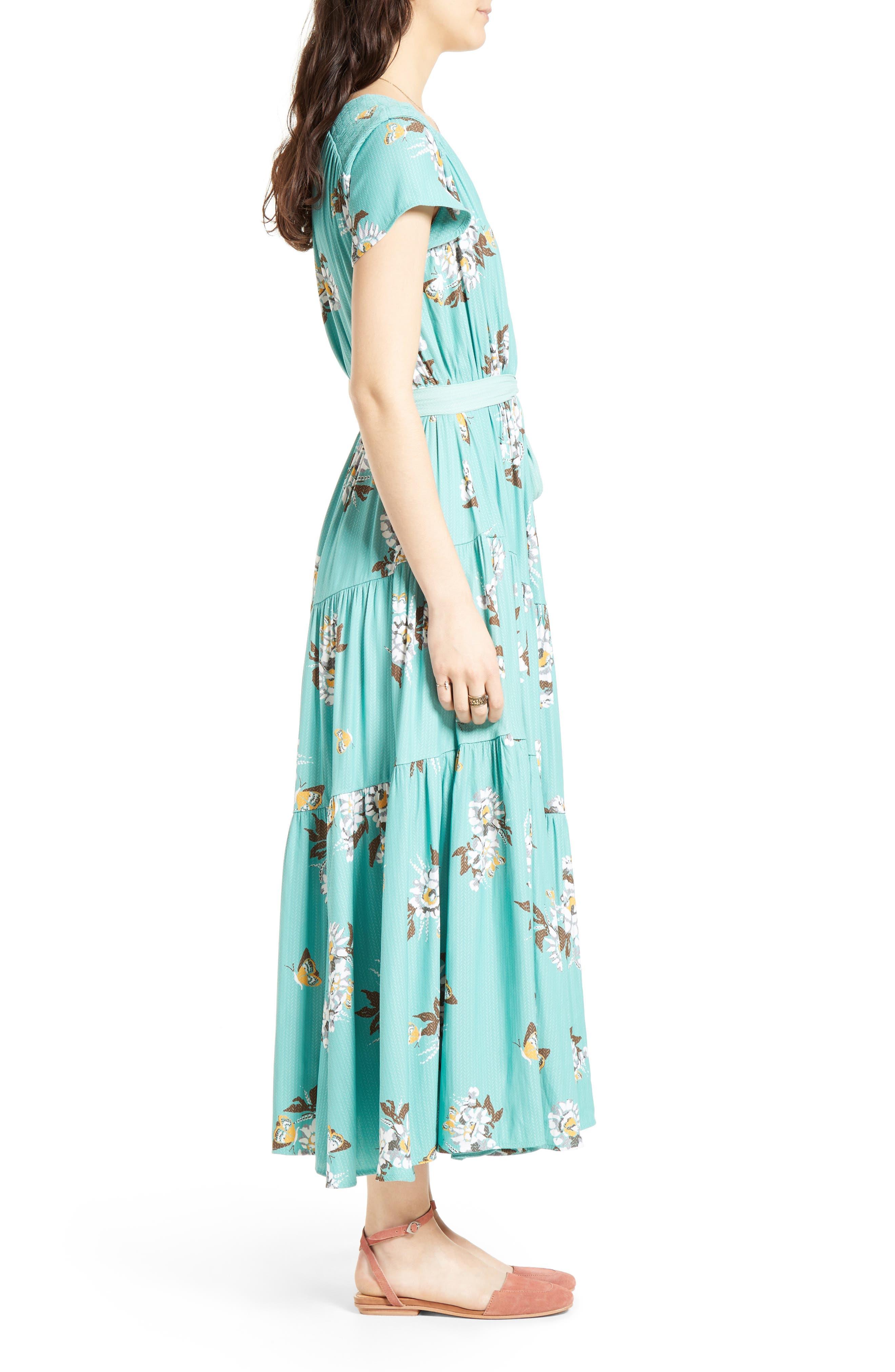 All I Got Maxi Dress,                             Alternate thumbnail 3, color,                             Botanic Combo