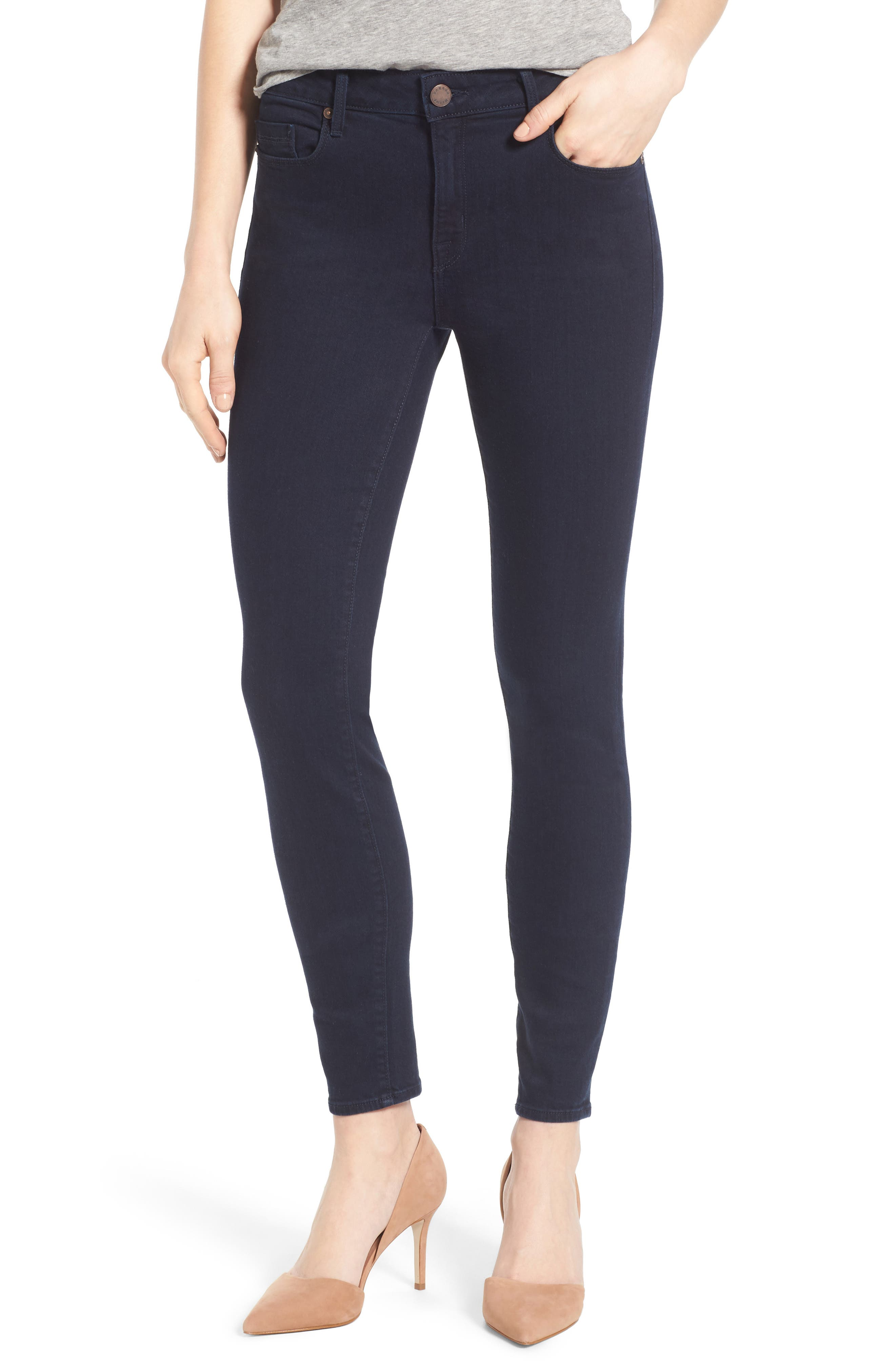 Main Image - PARKER SMITH Ava Stretch Skinny Jeans (Nautical)