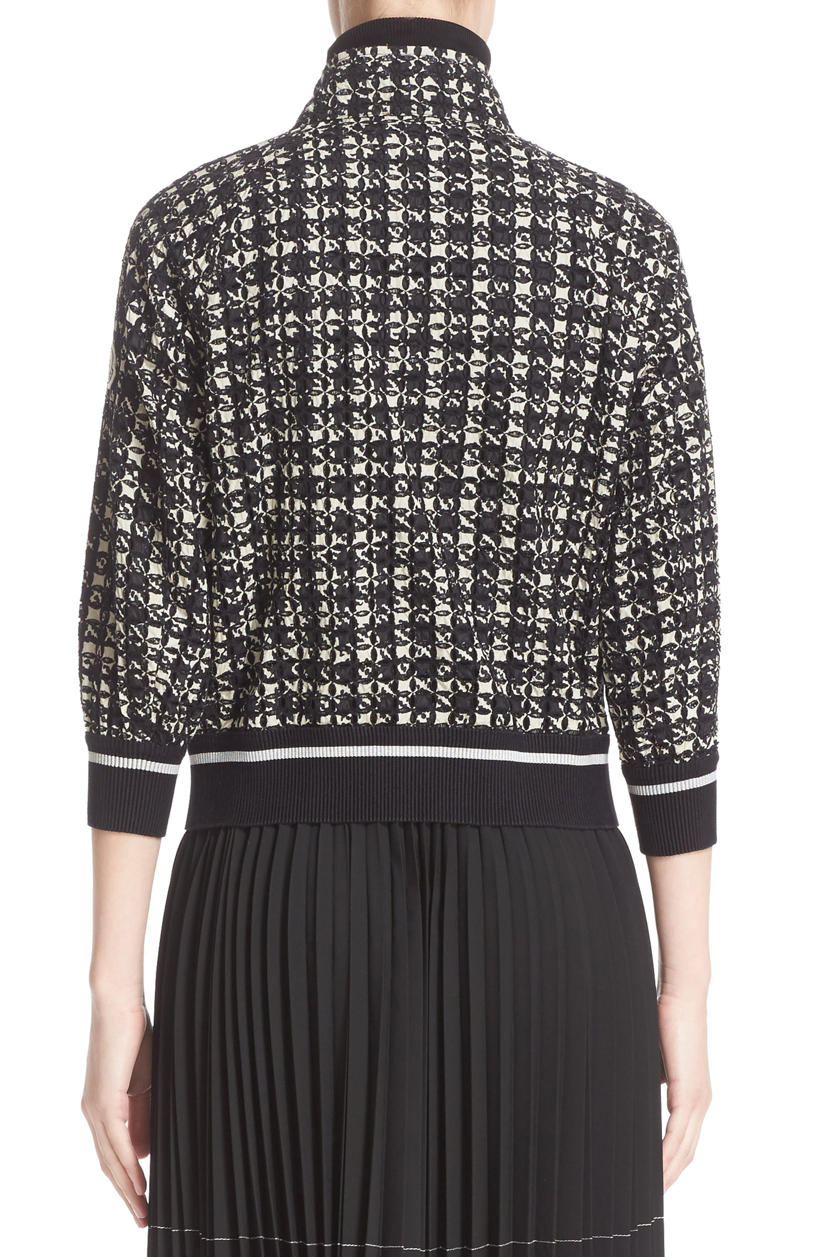 Fiadone Tweed Print Jacket,                             Alternate thumbnail 2, color,                             Black