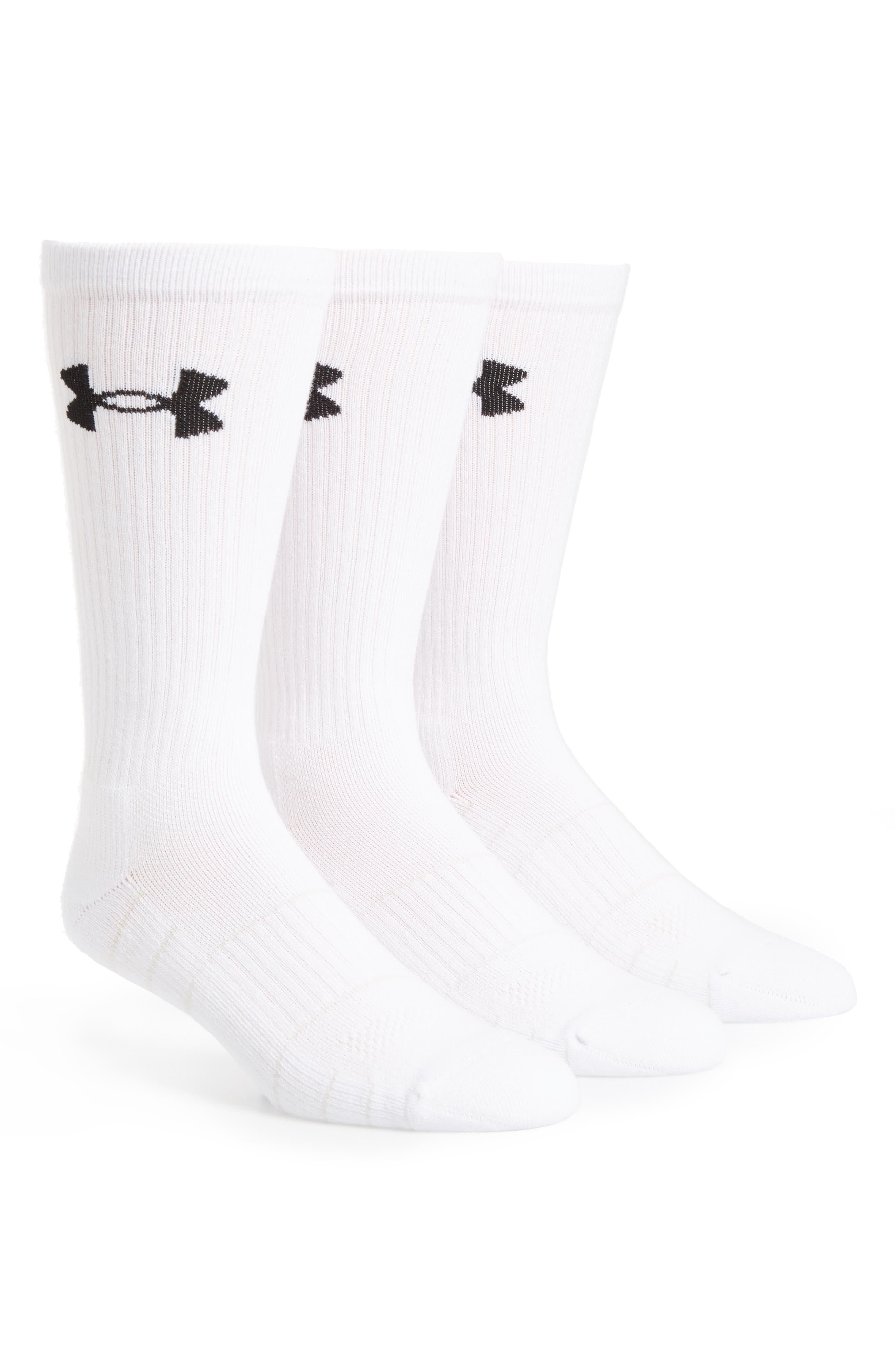 Elevated Performance 3-Pack Socks,                         Main,                         color, White