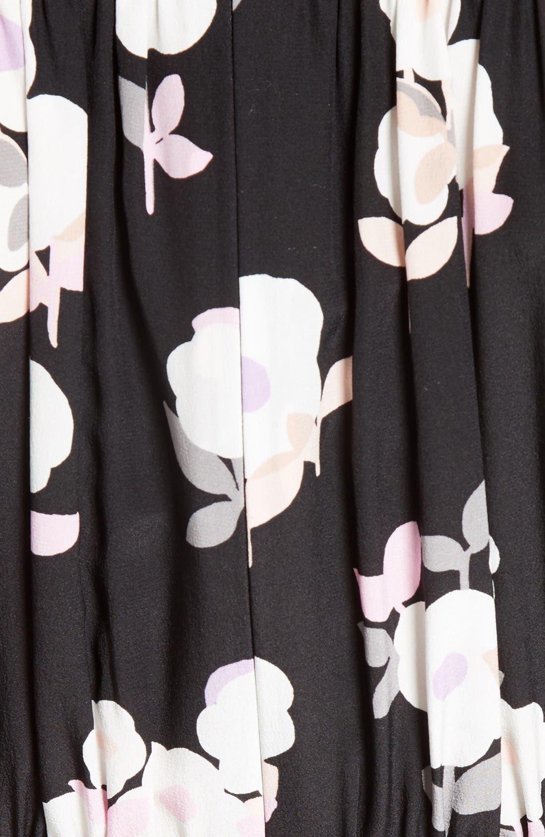 Alternate Image 5  - kate spade new york posy floral silk midi dress