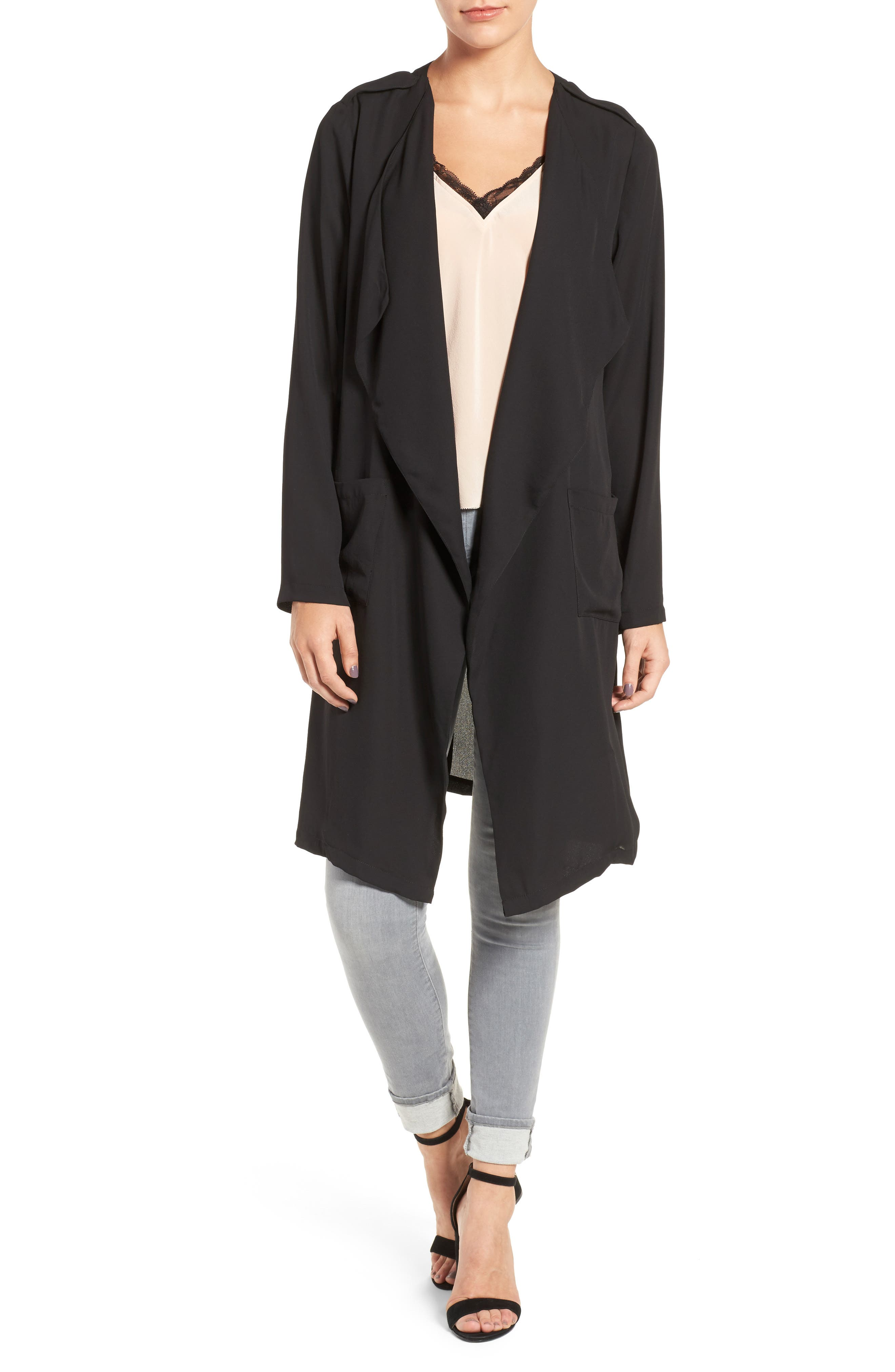Slouchy Jacket,                         Main,                         color, Black
