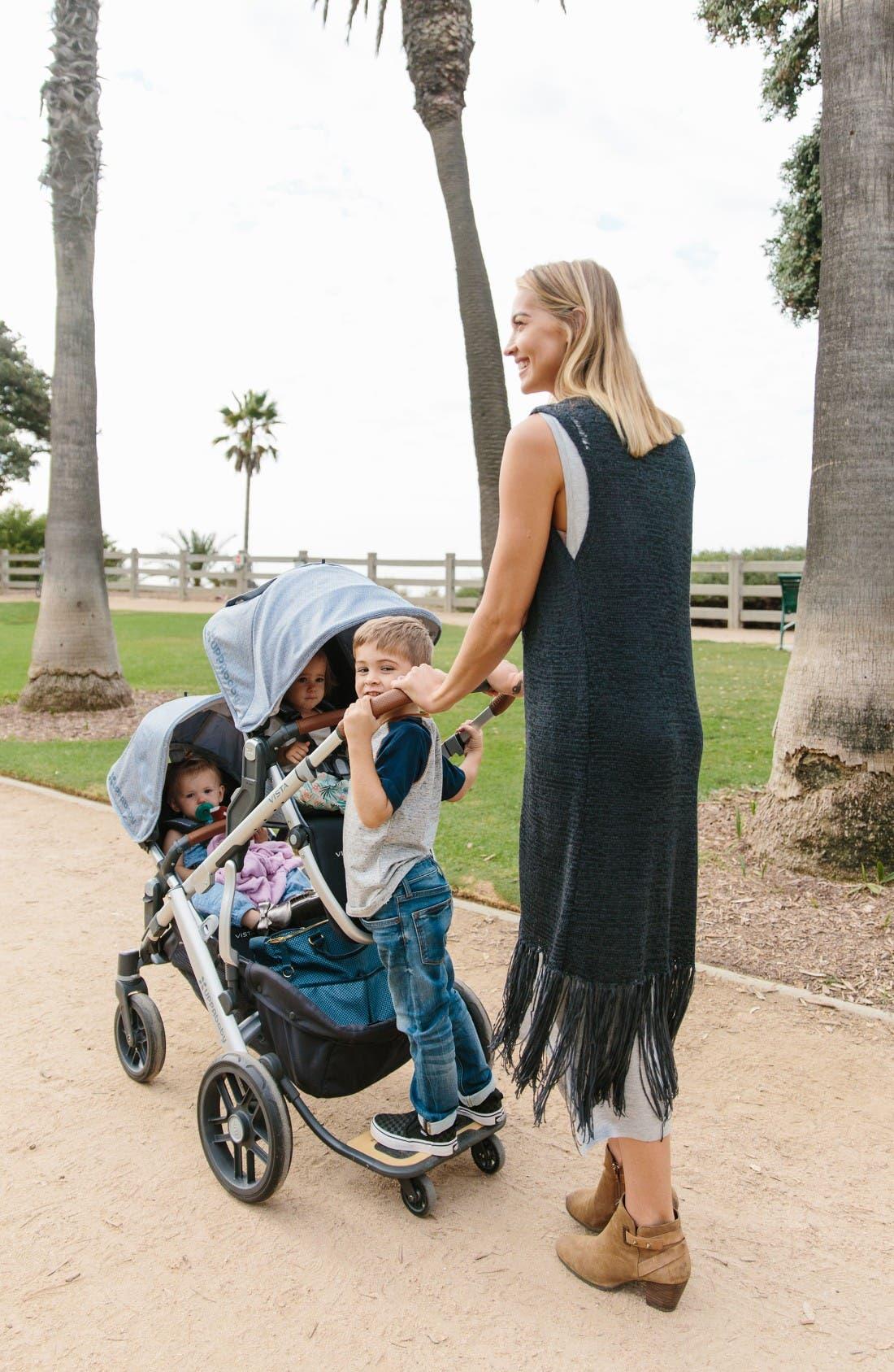 2017 VISTA Henry Aluminum Frame Convertible Stroller with Bassinet & Toddler Seat,                             Alternate thumbnail 9, color,                             Blue Marl