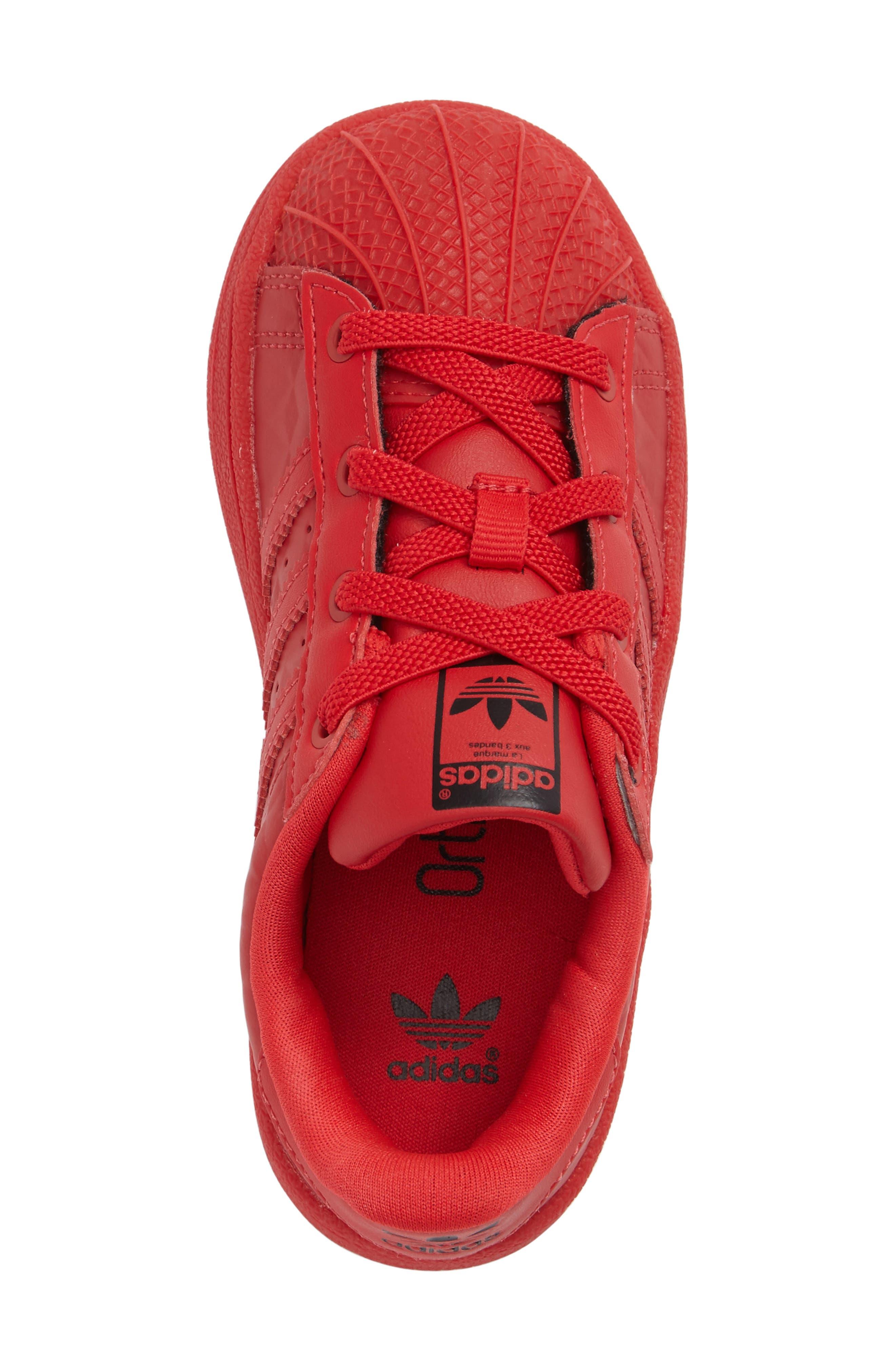 Alternate Image 3  - adidas Superstar Sneaker (Baby, Walker & Toddler)