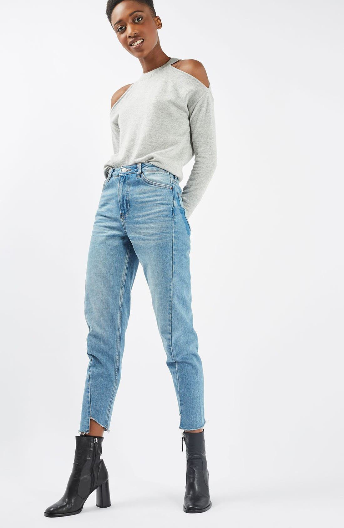 Alternate Image 2  - Topshop Cold Shoulder Sweater