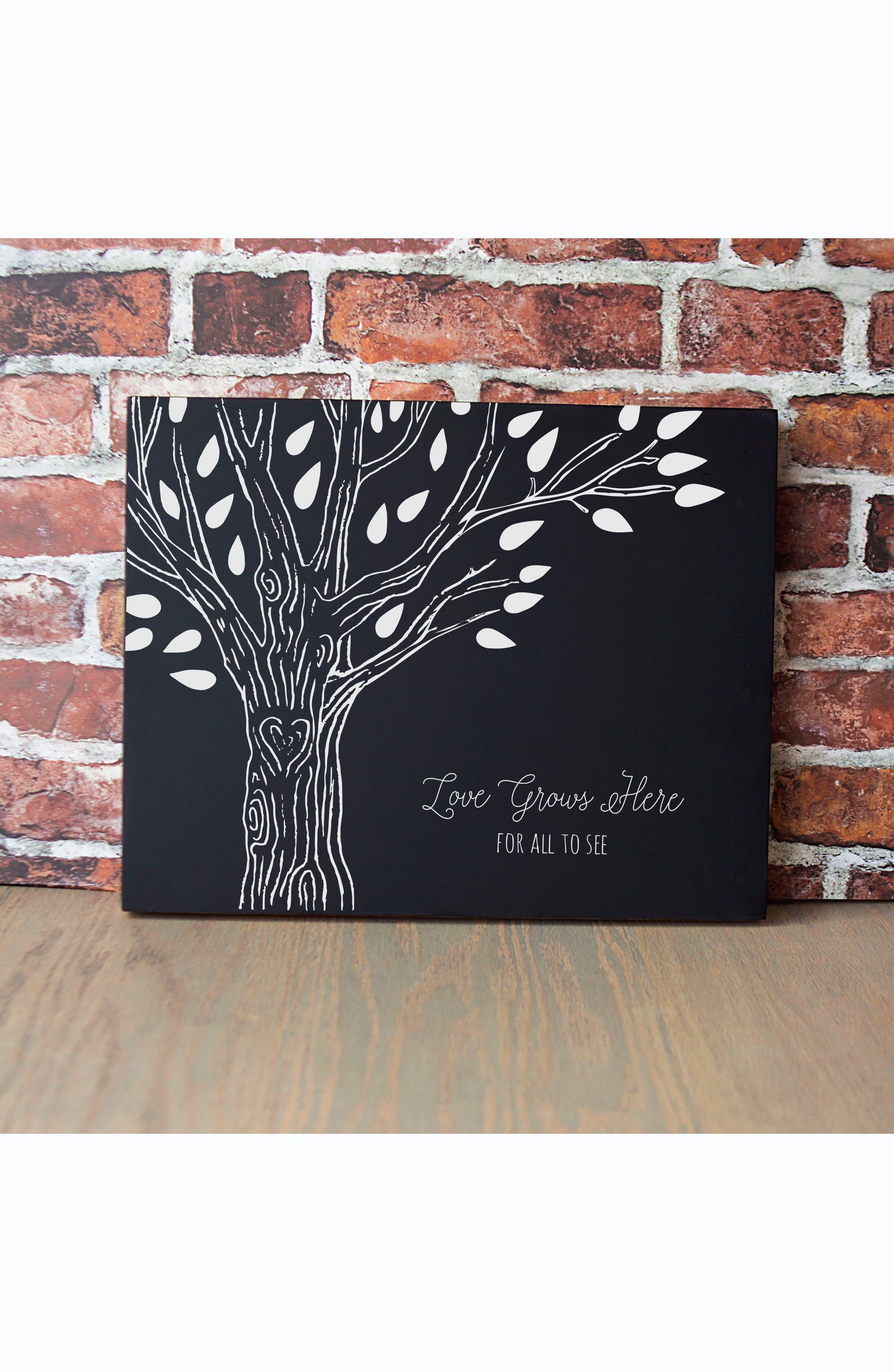 Family Tree Chalkboard,                         Main,                         color, Black