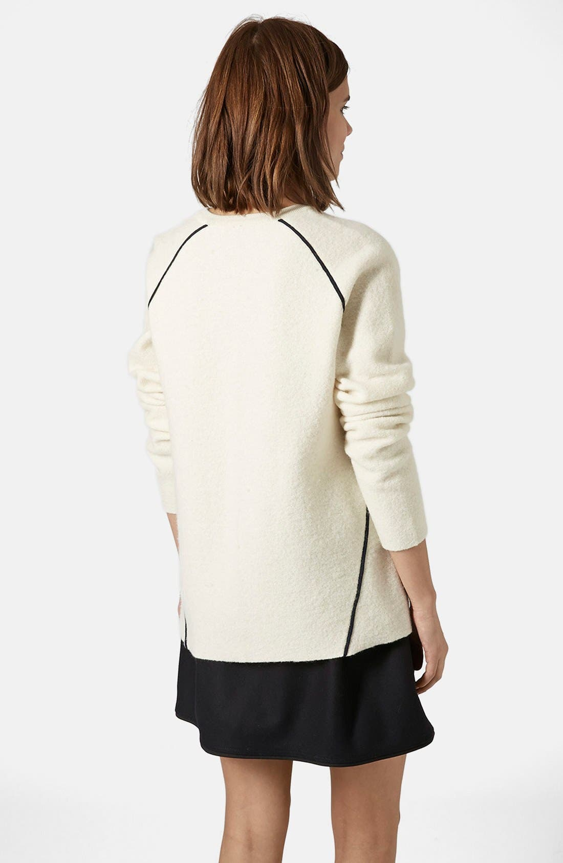 Alternate Image 2  - Topshop Boutique V-Neck Merino Wool Sweater