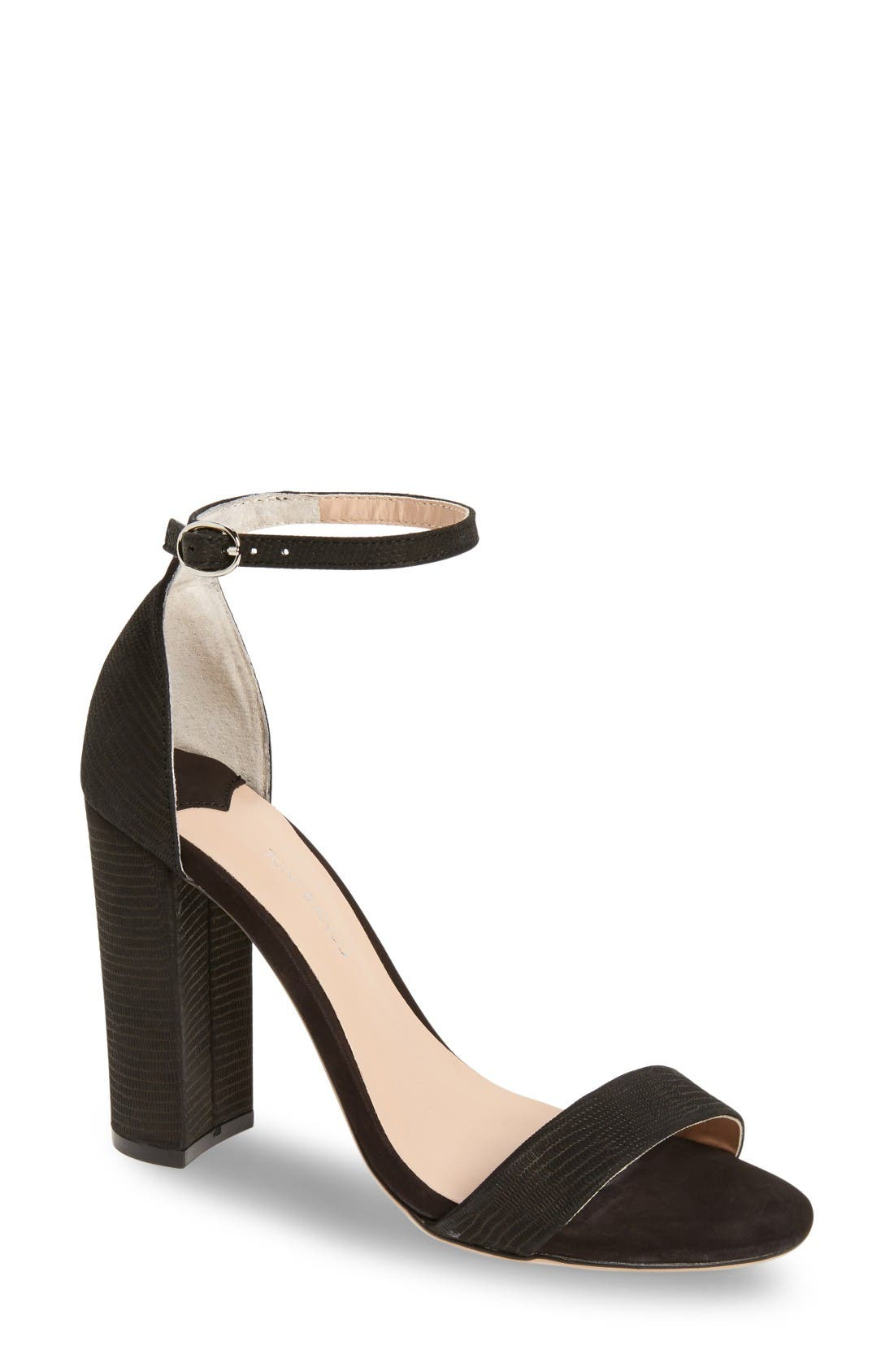 Kokomo Strappy Sandal,                         Main,                         color, Black Berlin