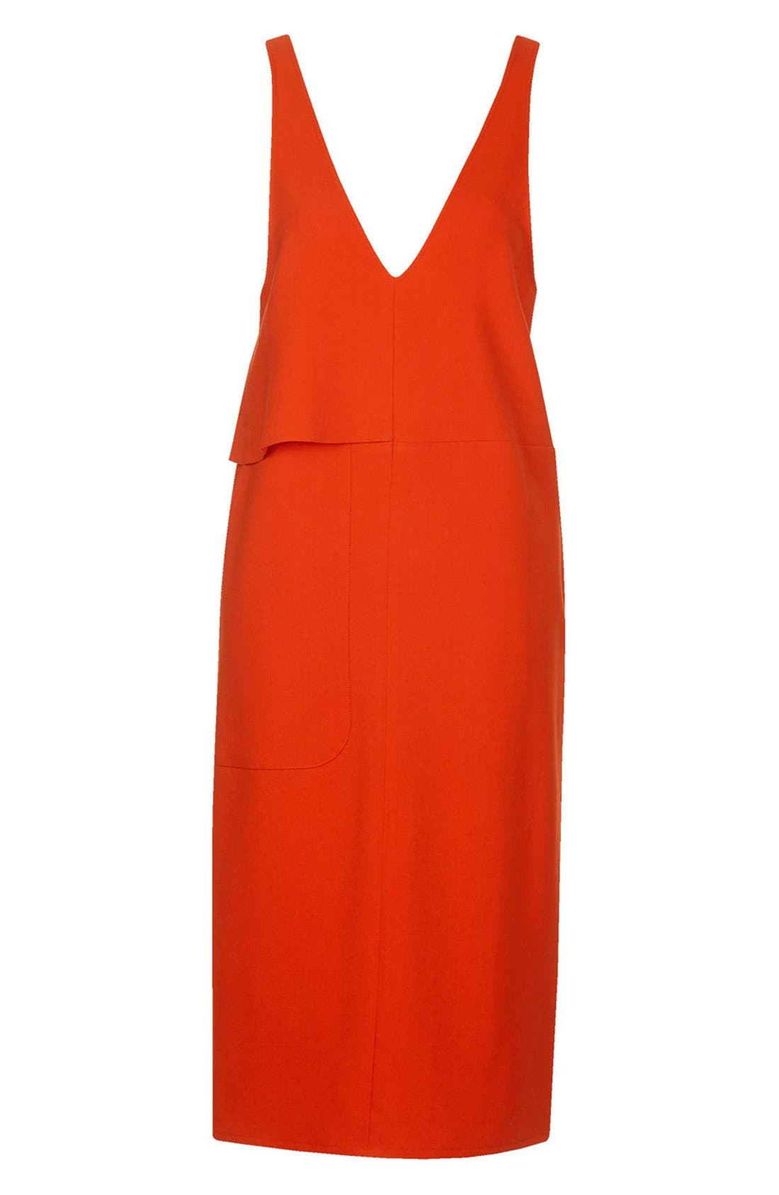 Alternate Image 3  - Topshop Boutique Crepe Layering Dress