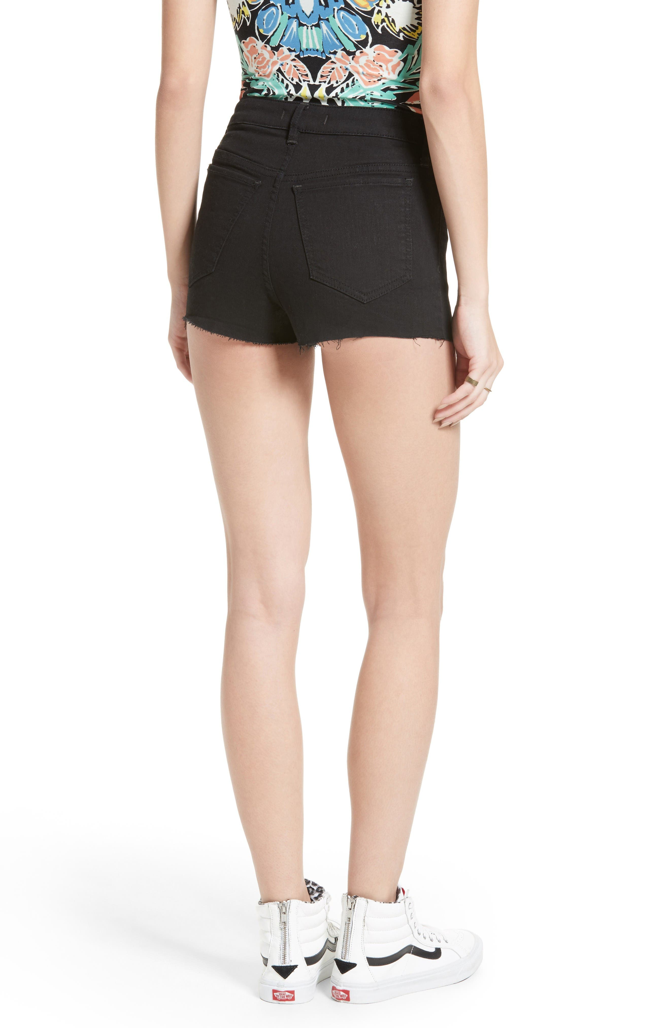 Alternate Image 2  - Free People High Rise Cutoff Shorts