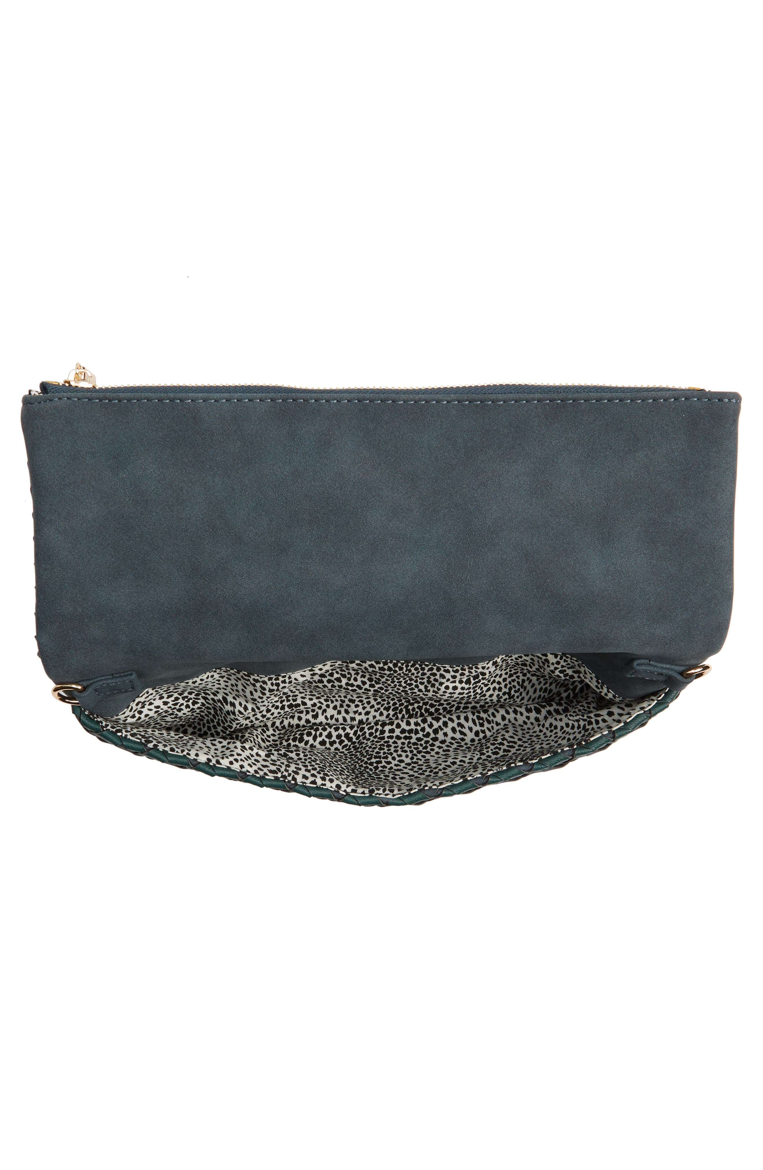 Marlee Woven Clutch,                             Alternate thumbnail 5, color,                             Navy