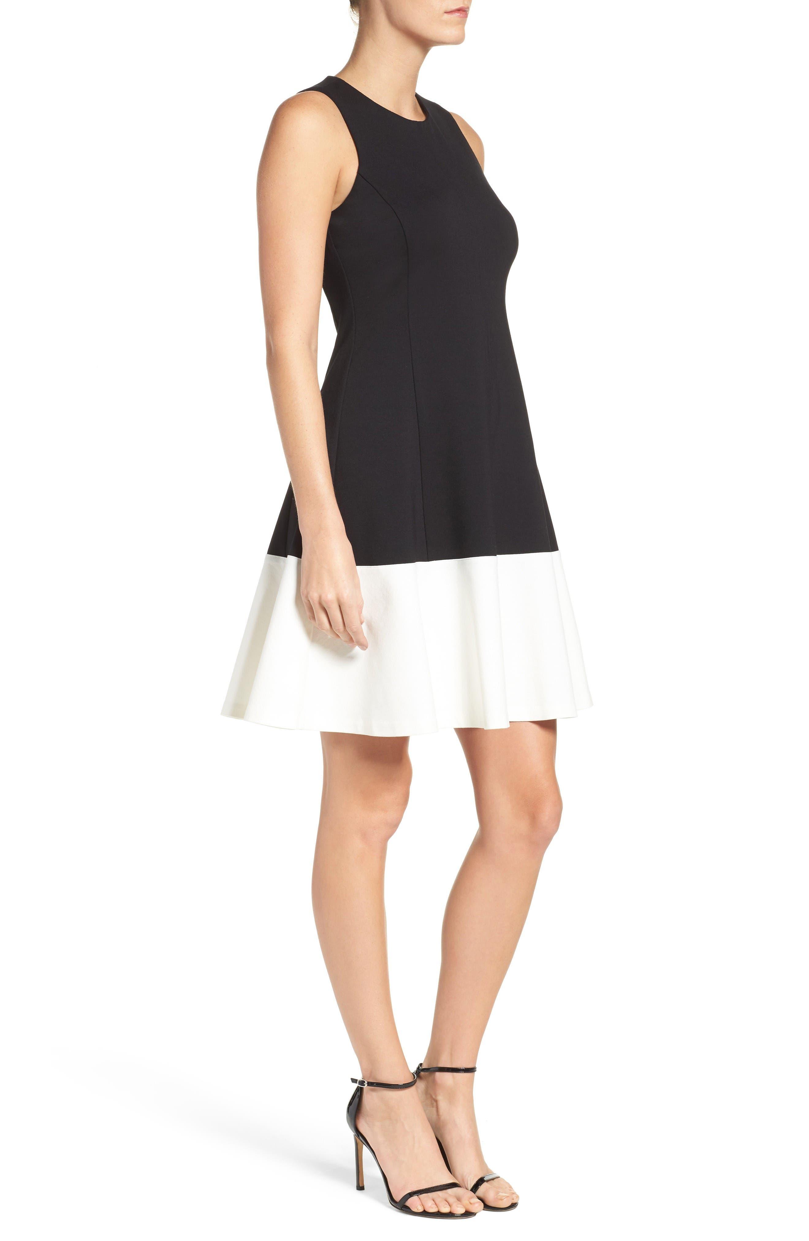 Alternate Image 3  - Eliza J Colorblock Hem Fit & Flare Dress (Regular & Petite)