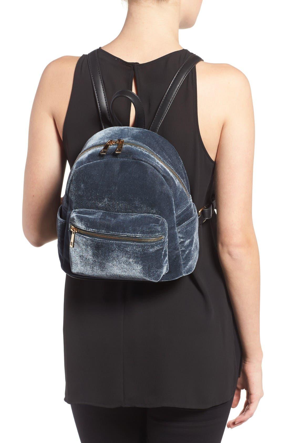 Alternate Image 2  - BP. Mini Velvet Backpack