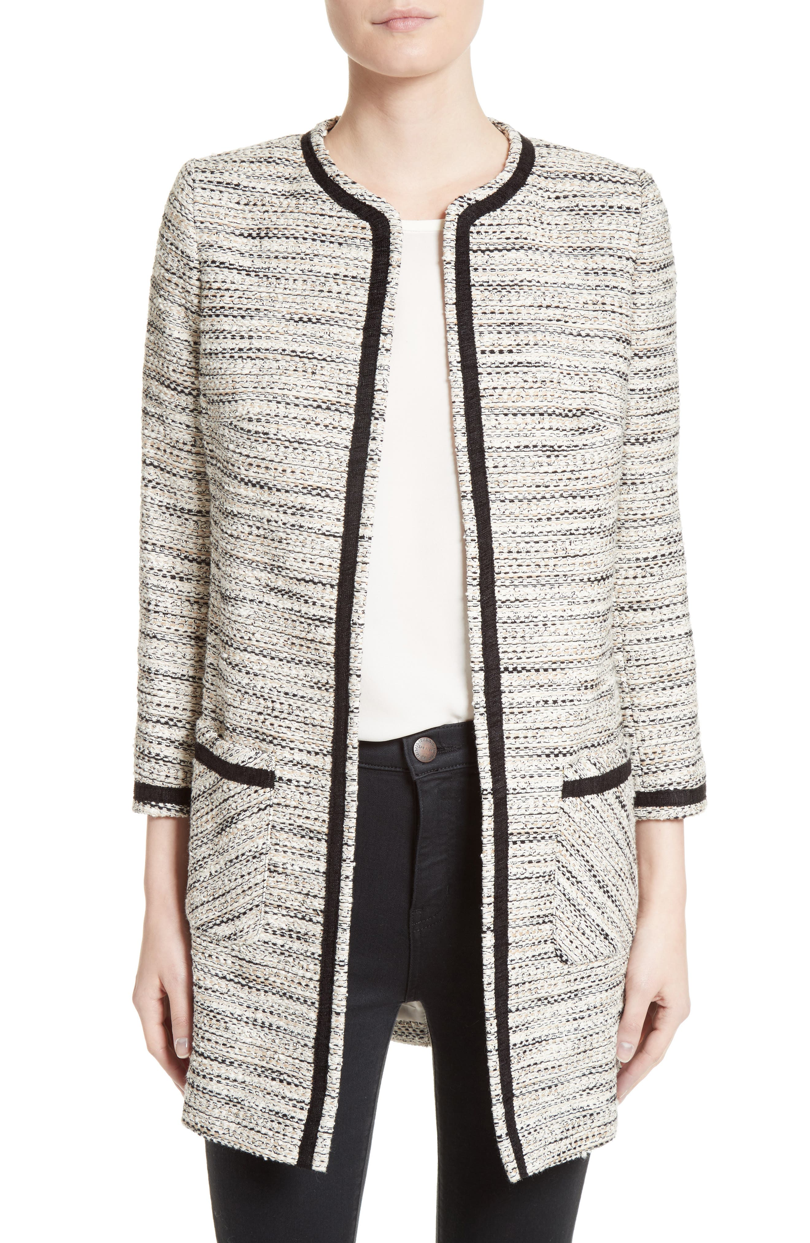 HELENE BERMAN Longline Tweed Jacket