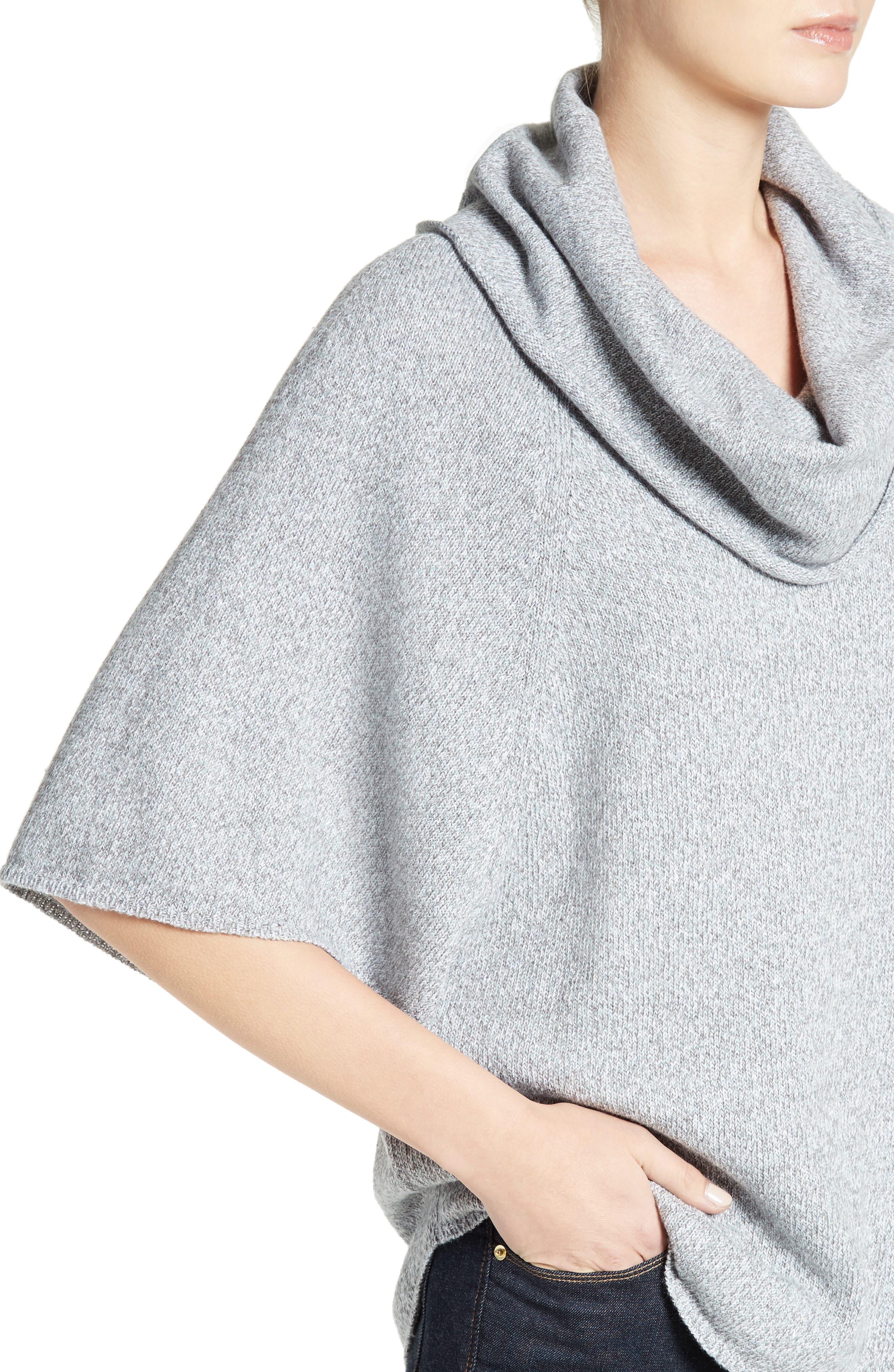 Celia Cowl Neck Sweater,                             Alternate thumbnail 4, color,                             Light Smoke Multi