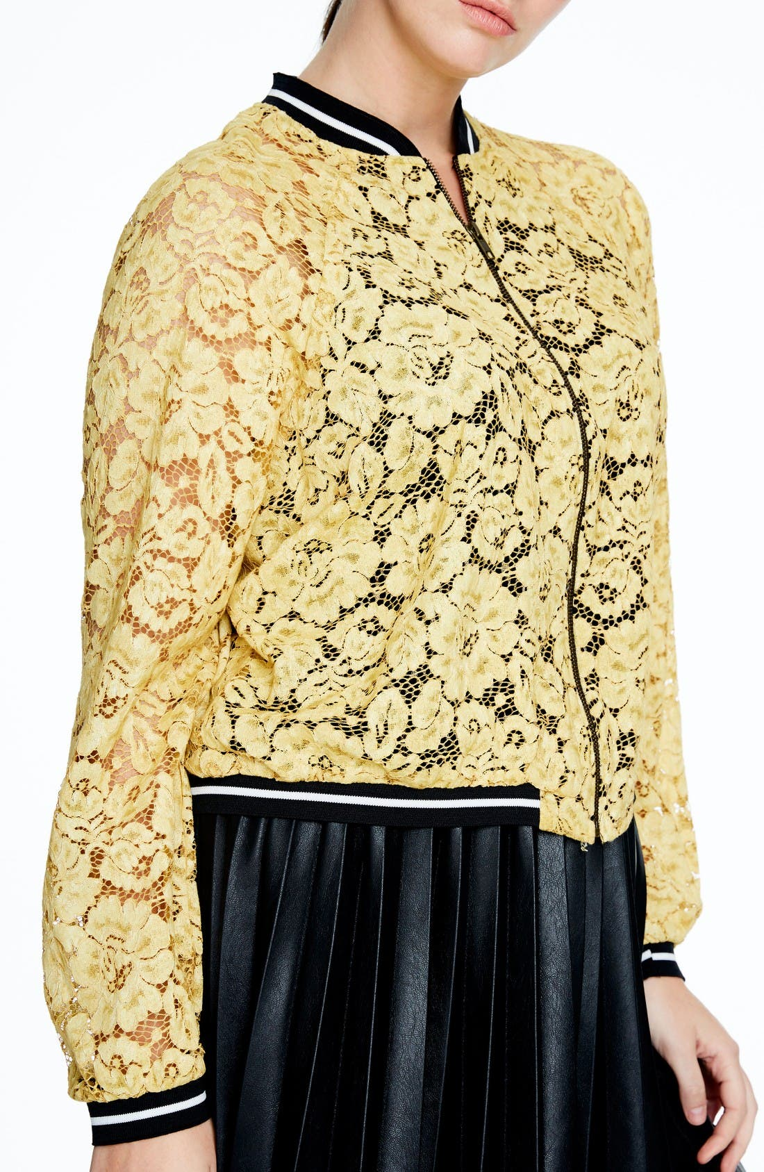 Catching The Sun! How? With The Sun-Yellow Plus Size Bomber Jacket