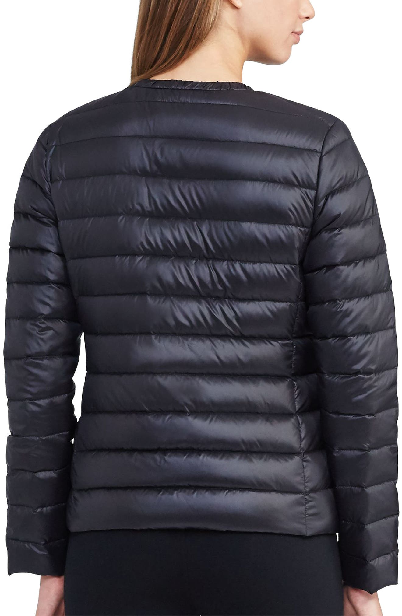 Alternate Image 2  - Lauren Ralph Lauren Packable Quilted Collarless Down Jacket