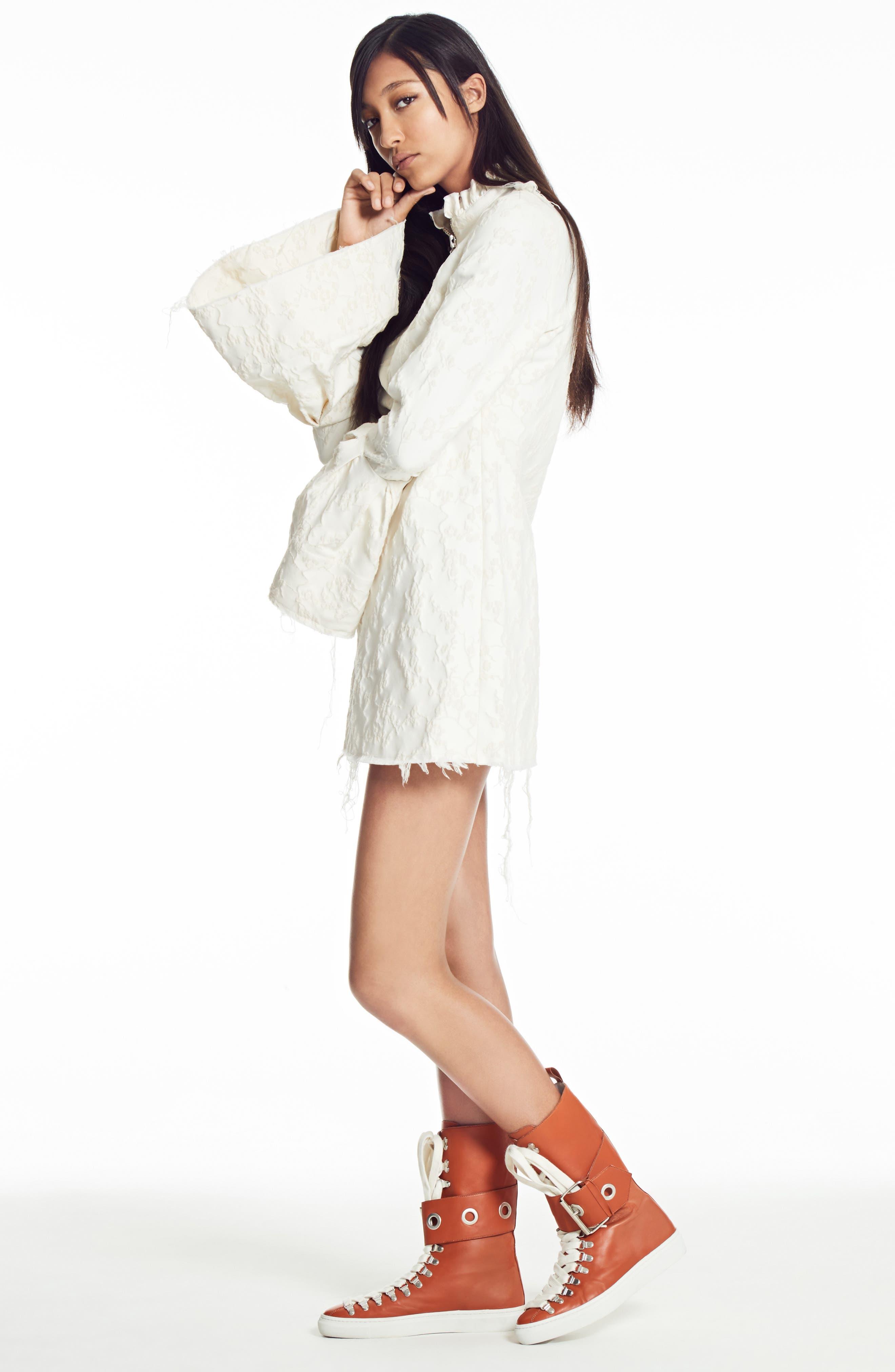 Alternate Image 7  - Marques'Almeida Bell Sleeve Minidress