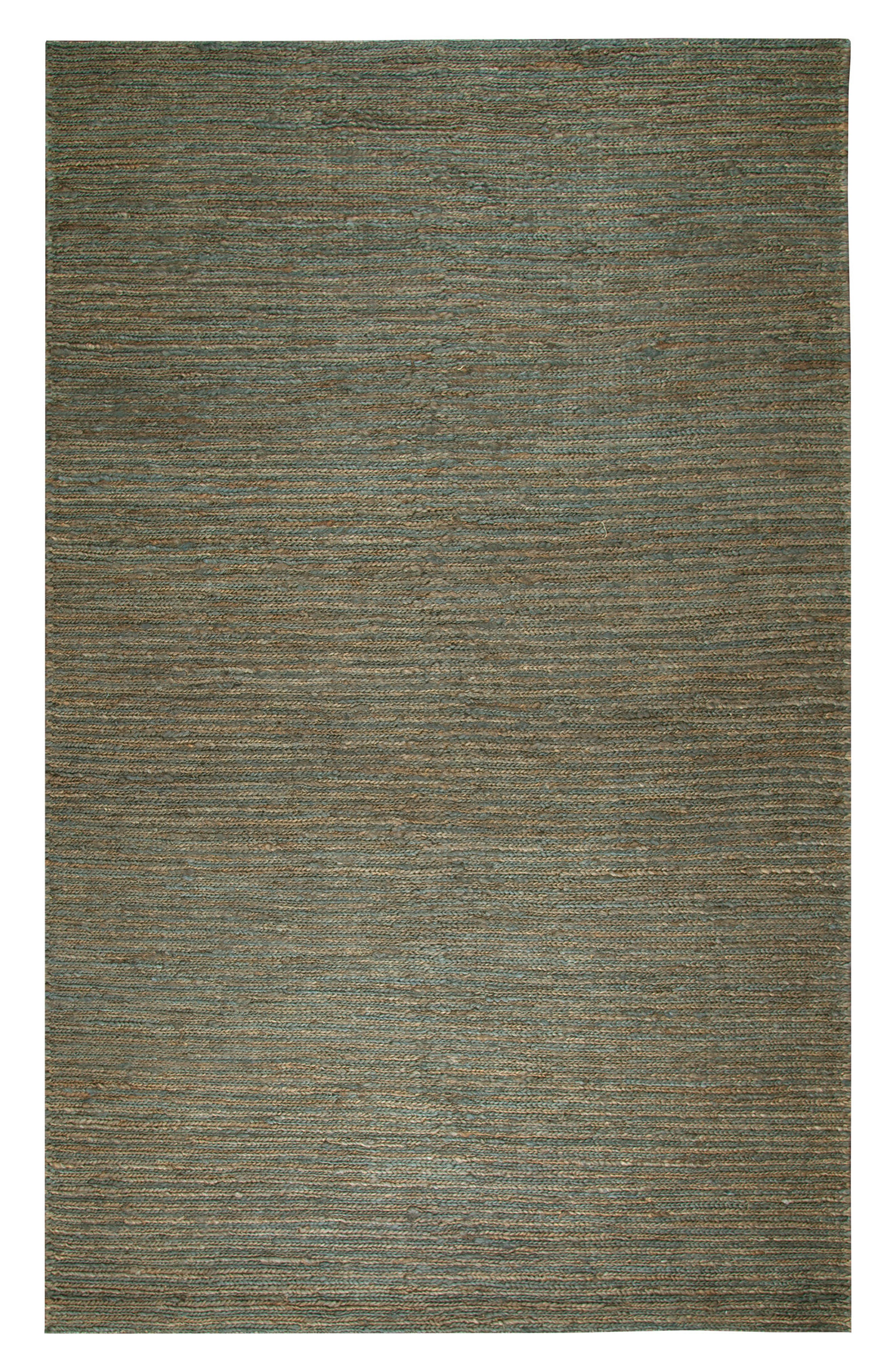 'Whittier Collection' Handwoven Jute Area Rug,                         Main,                         color, Blue