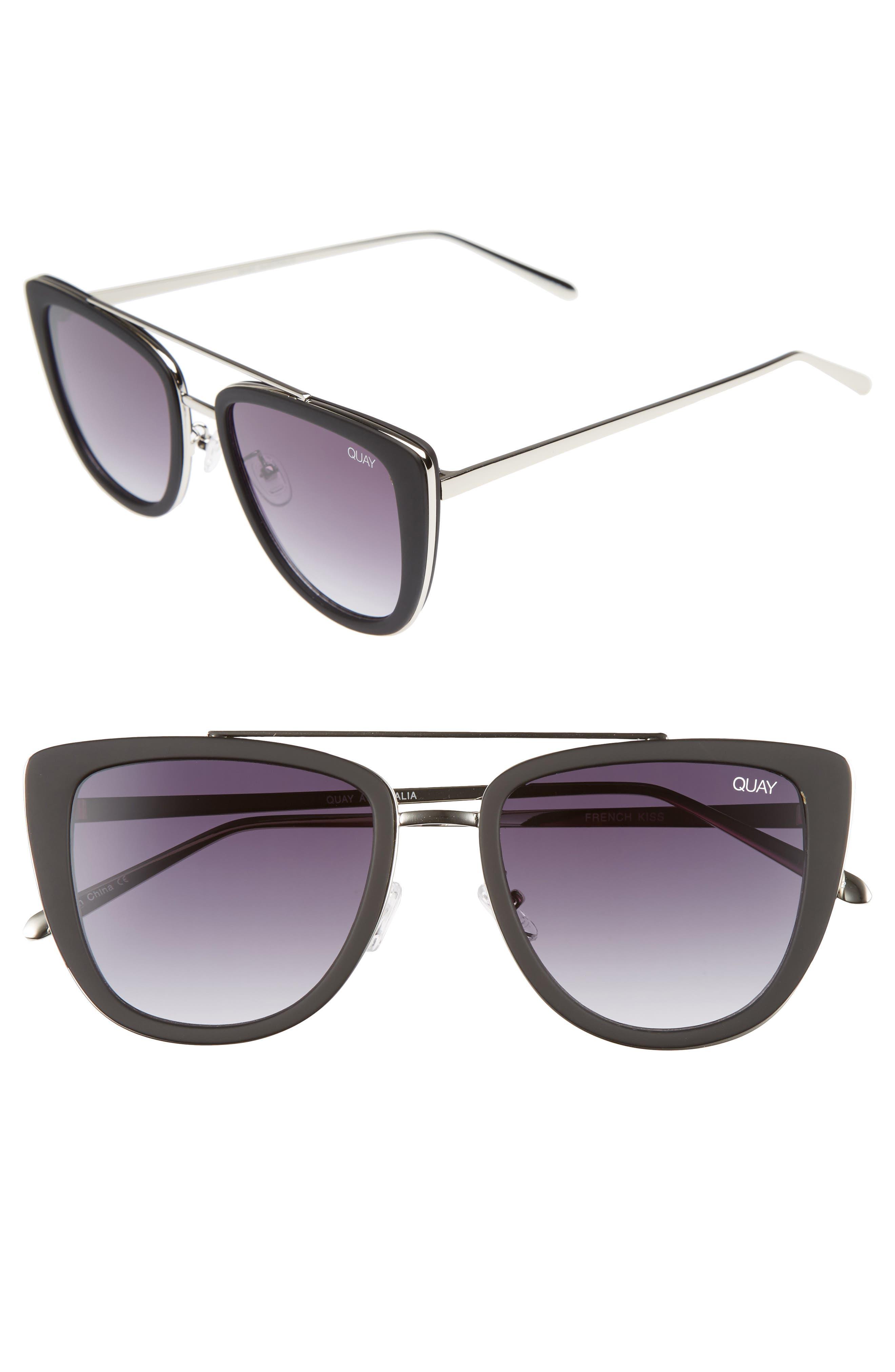 Alternate Image 1 Selected - Quay Australia French Kiss 55mm Cat Eye Sunglasses