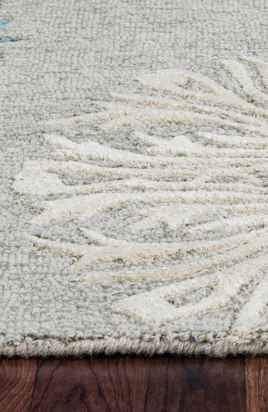 'Dimensional' Wool Area Rug,                             Alternate thumbnail 3, color,                             Light Blue/ Grey