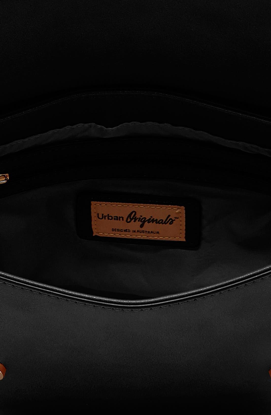 Alternate Image 3  - Urban Originals Reckless Destiny Vegan Leather Saddle Bag