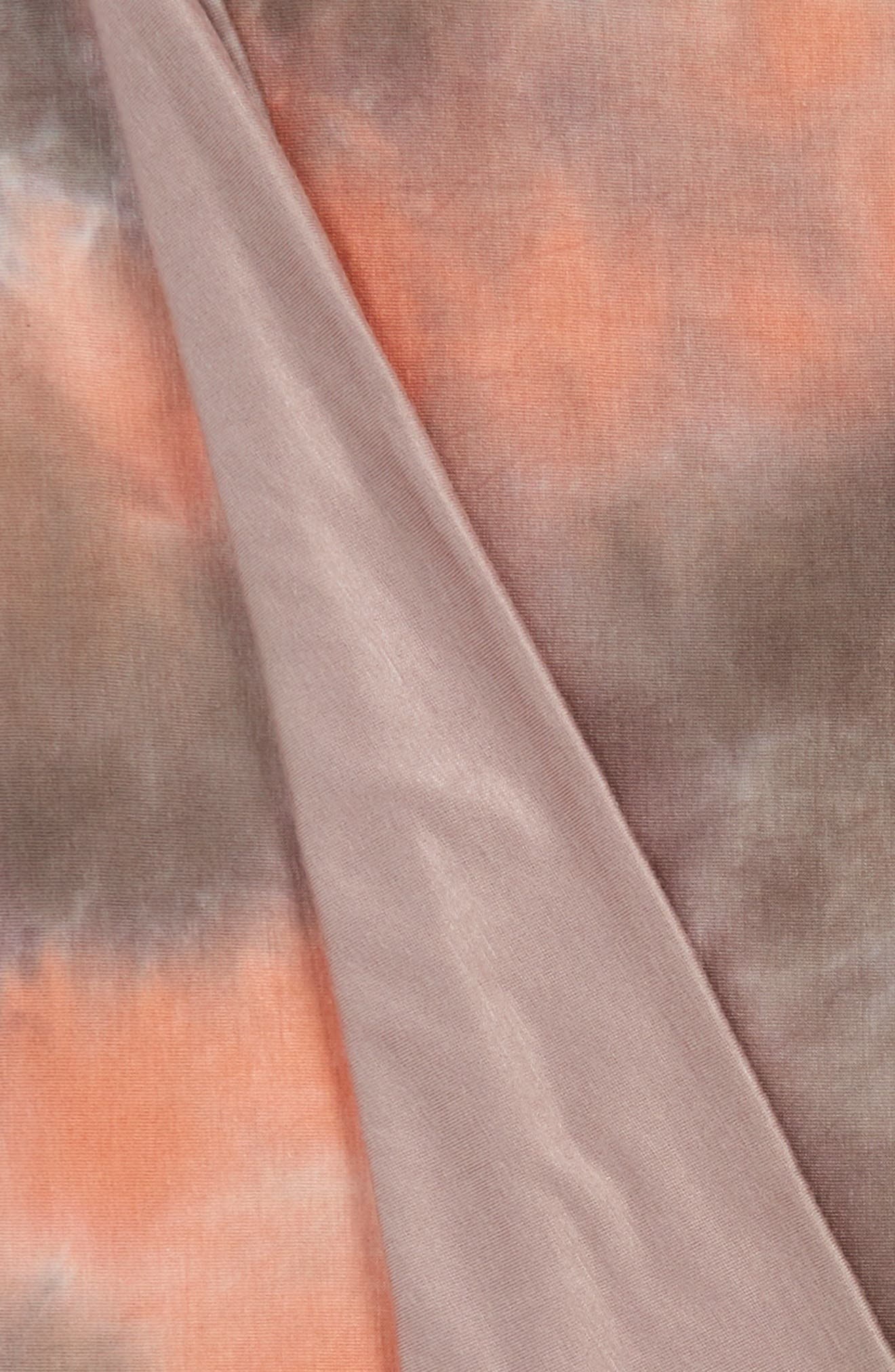 September Marbled Jersey Throw,                             Alternate thumbnail 3, color,                             Coral/ Multi