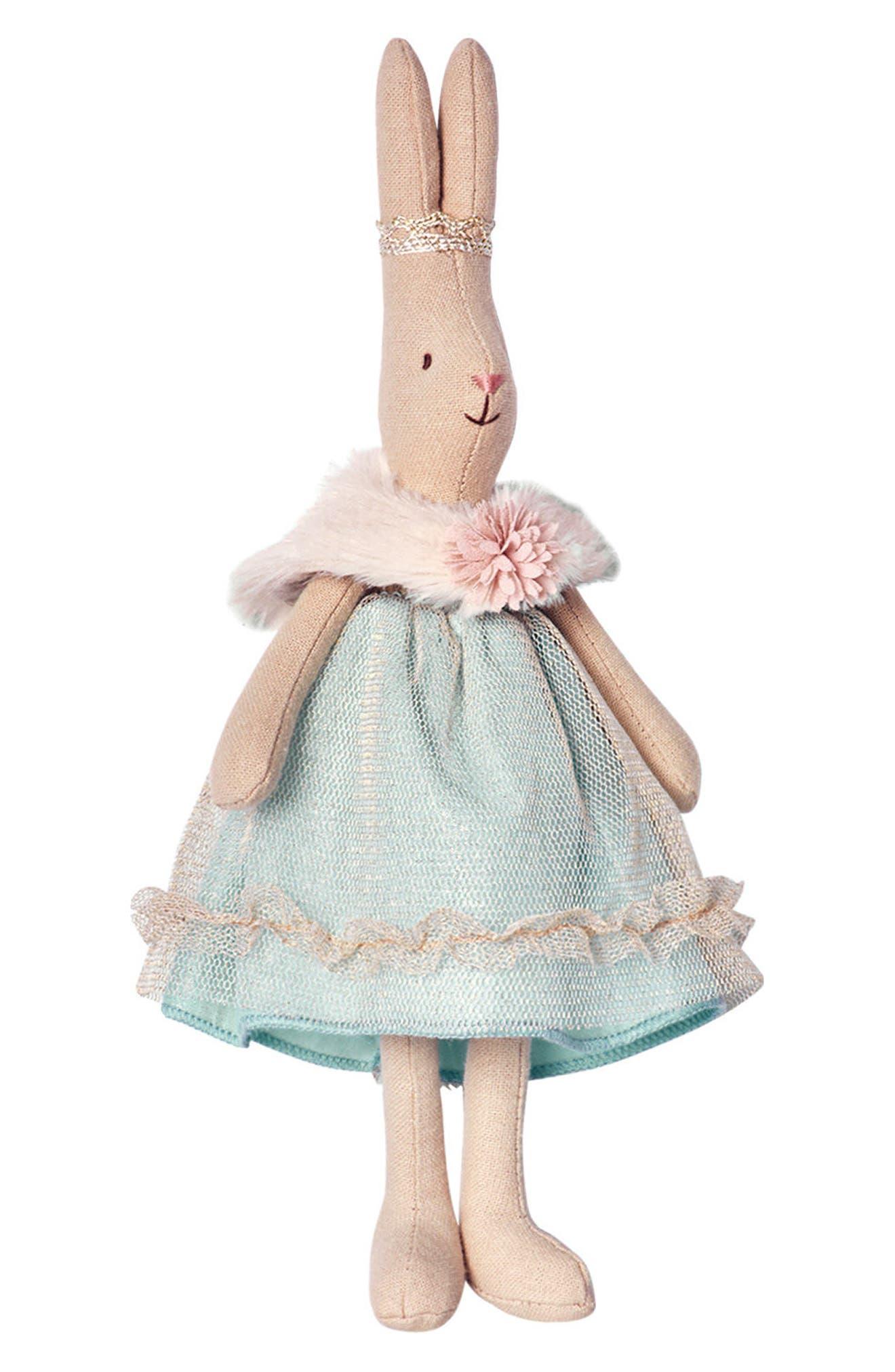 Mini Princess Sofia Stuffed Toy Bunny,                         Main,                         color, Blue