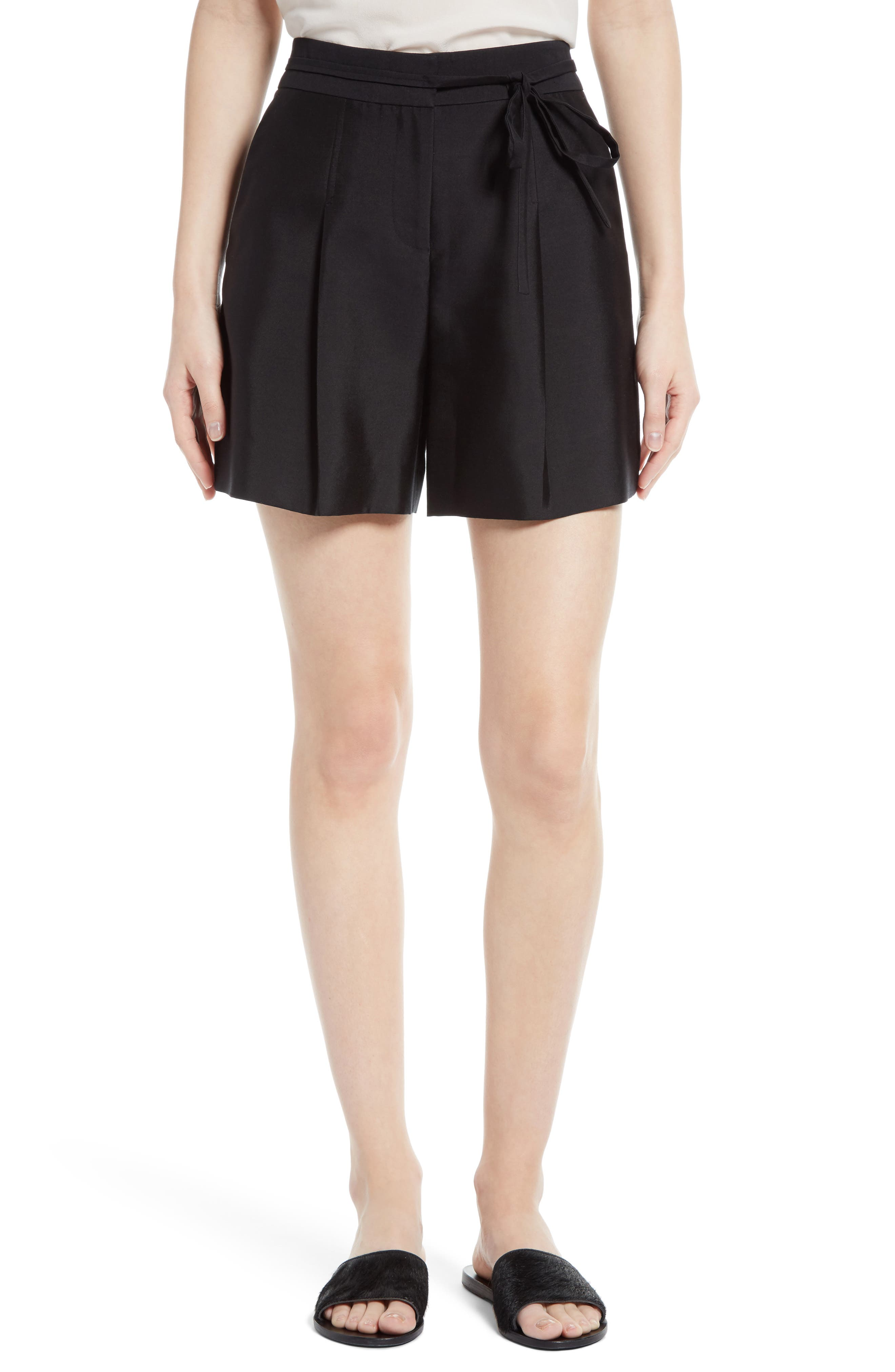 Alternate Image 1 Selected - GREY Jason Wu Belted Wool & Silk Shorts