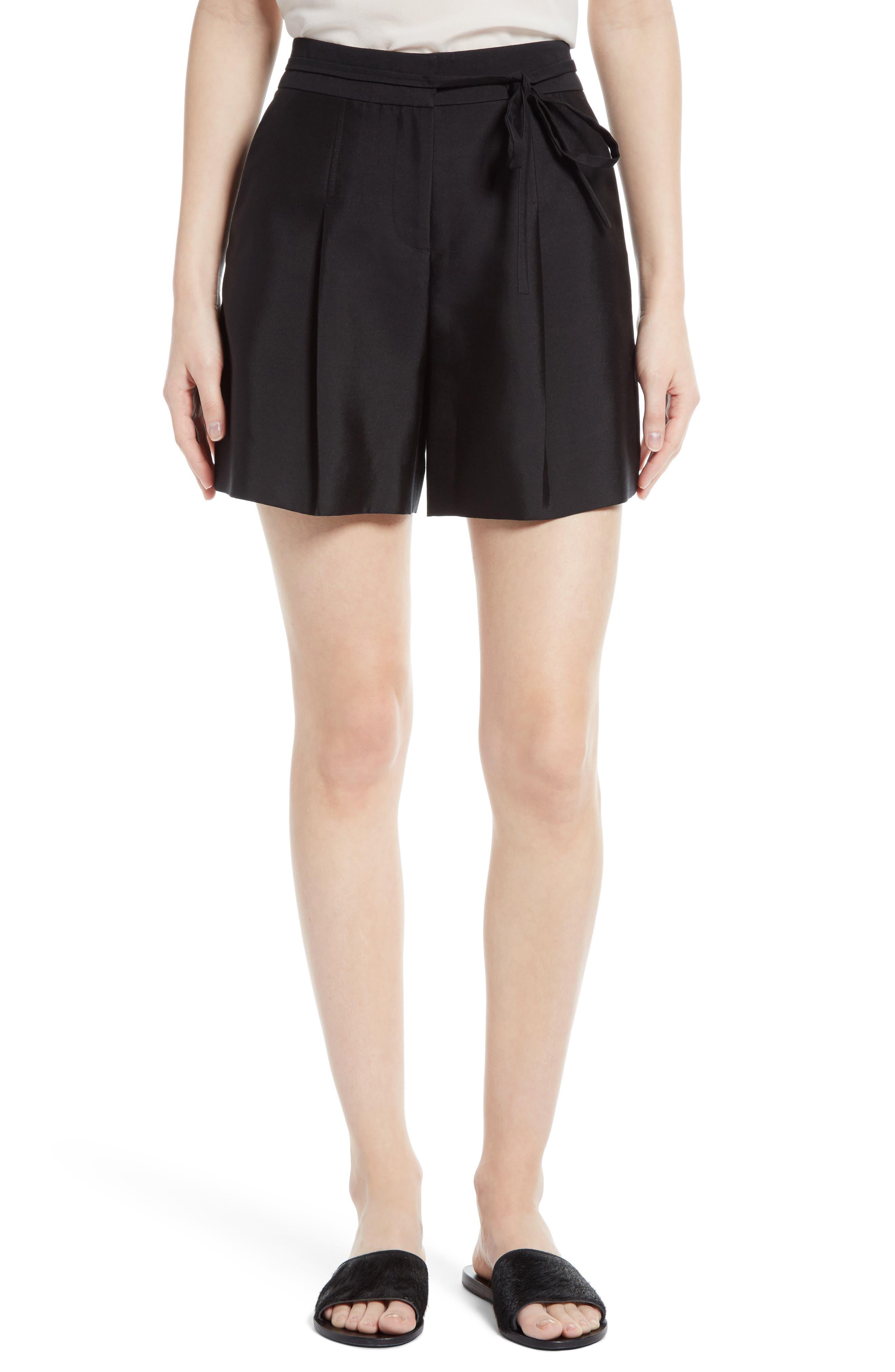Main Image - GREY Jason Wu Belted Wool & Silk Shorts