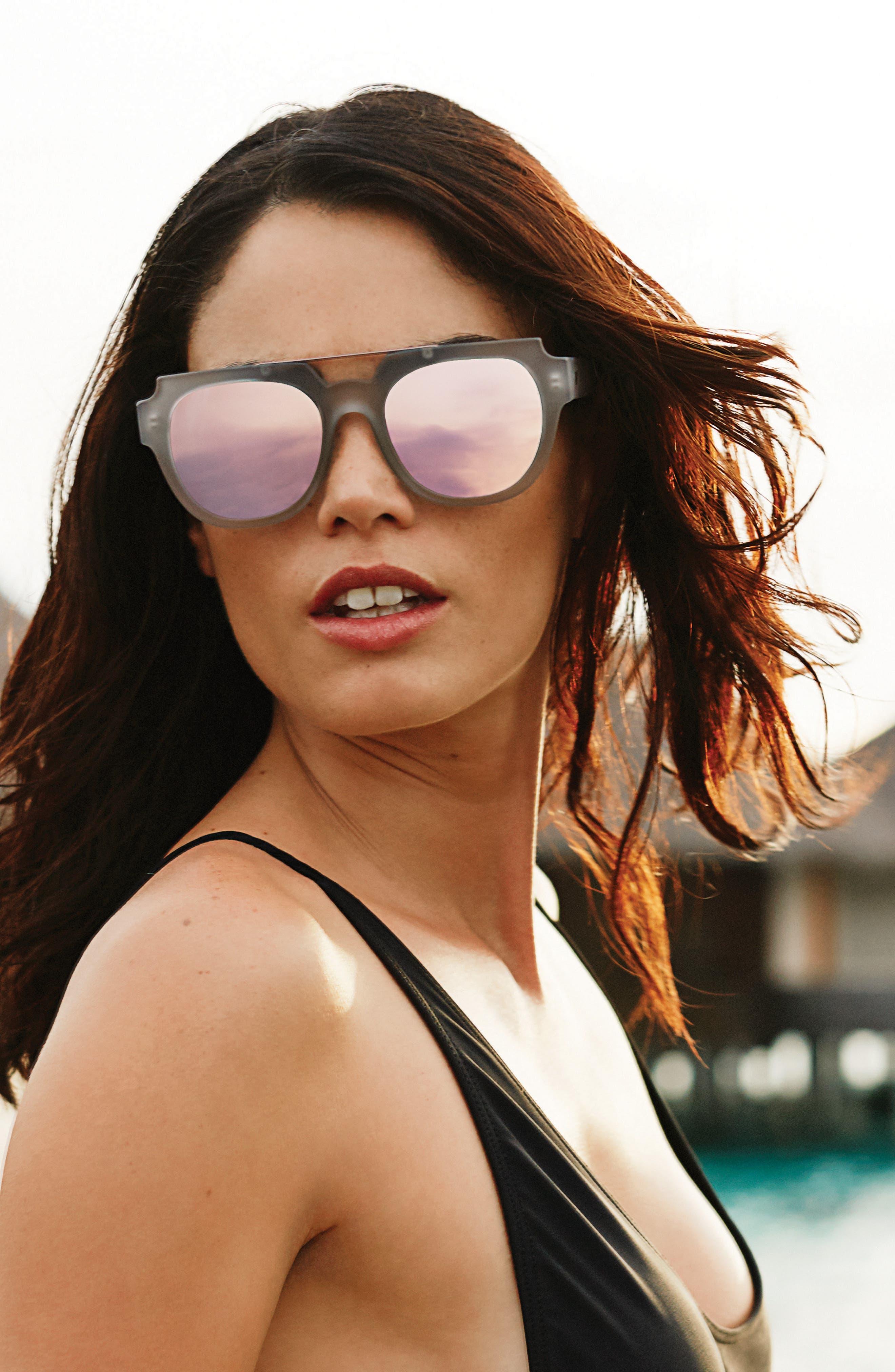 La Habana 52mm Retro Sunglasses,                             Alternate thumbnail 3, color,                             Matte Mist