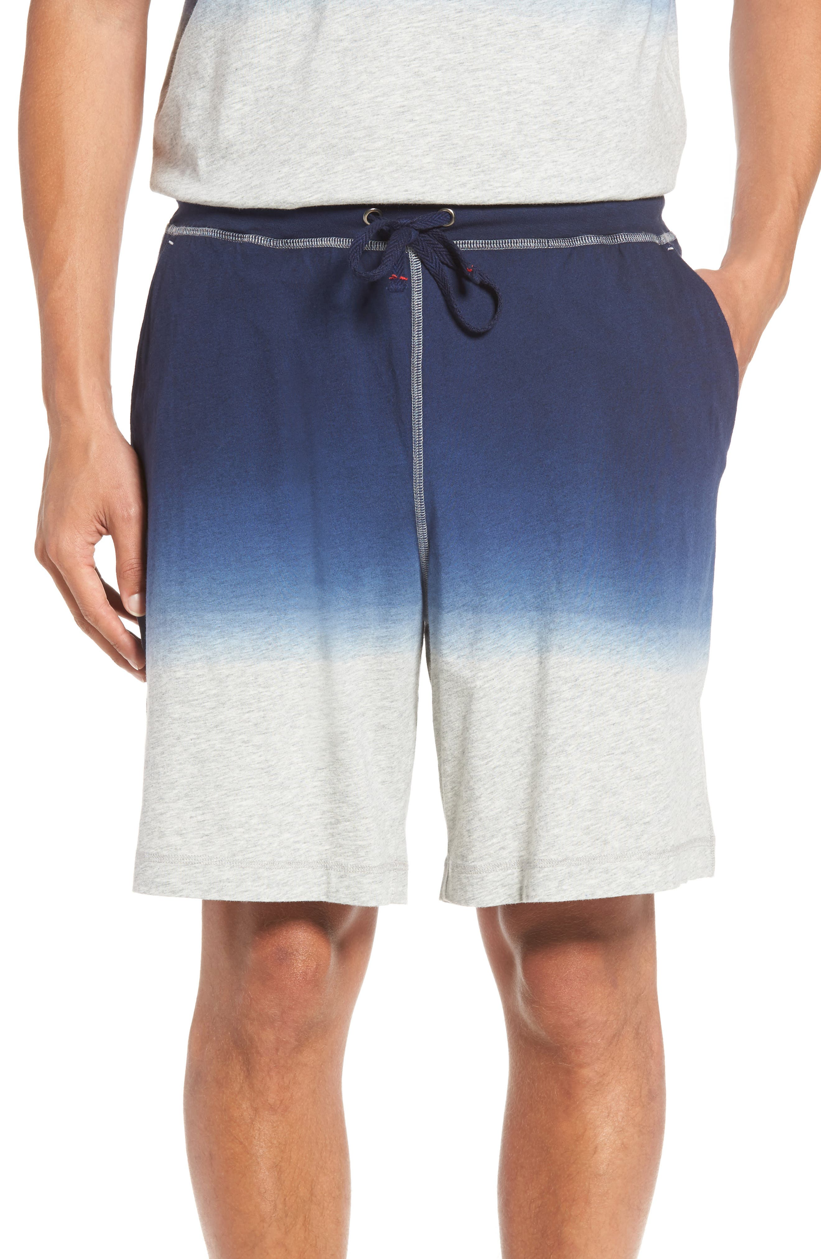 Dip Dye Lounge Shorts,                             Main thumbnail 1, color,                             Navy