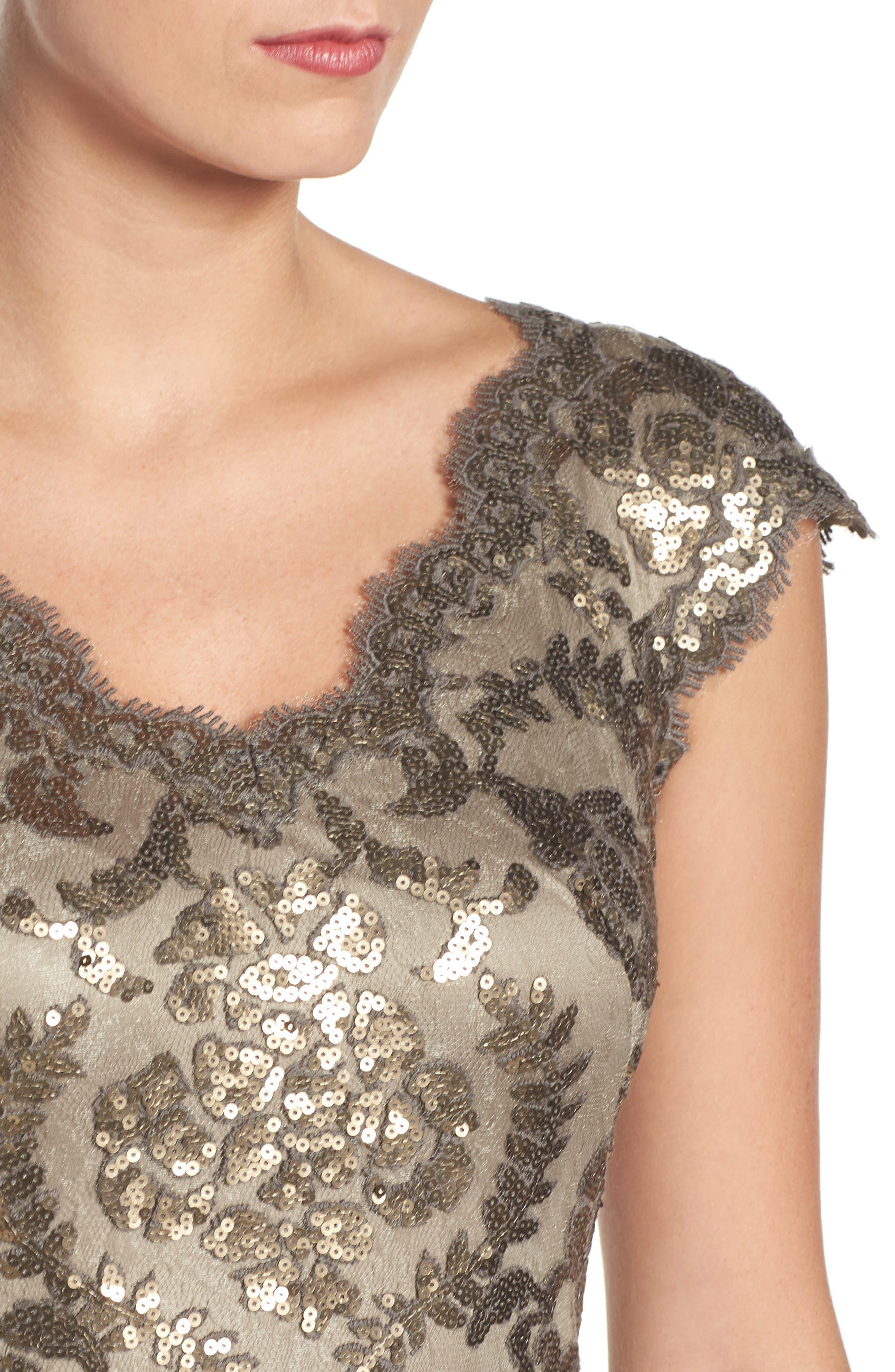 Alternate Image 4  - Tadashi Shoji Sequin Sheath Dress (Regular & Petite)