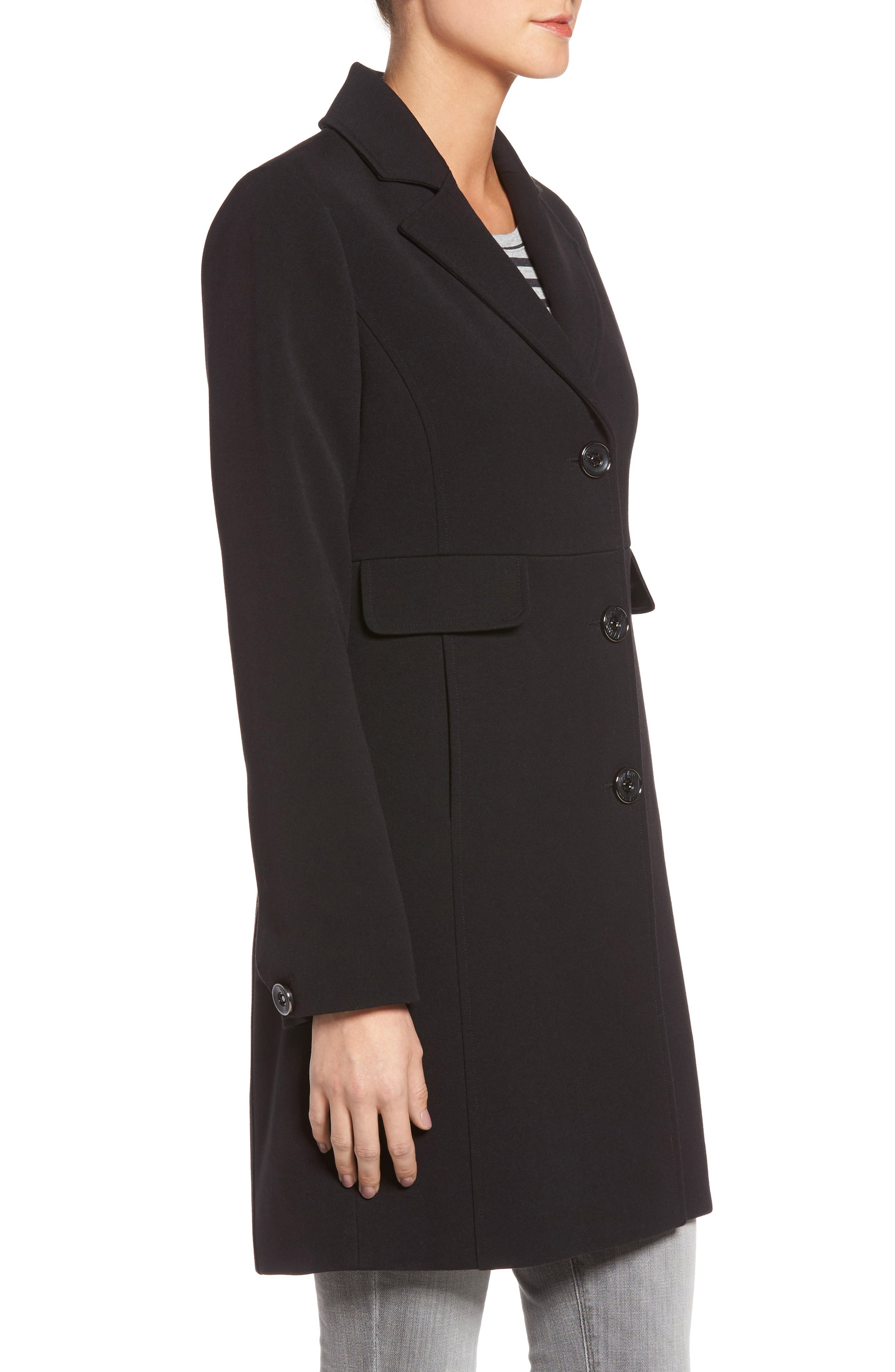 Alternate Image 3  - Kenneth Cole A-Line Ponte Coat (Regular & Petite)