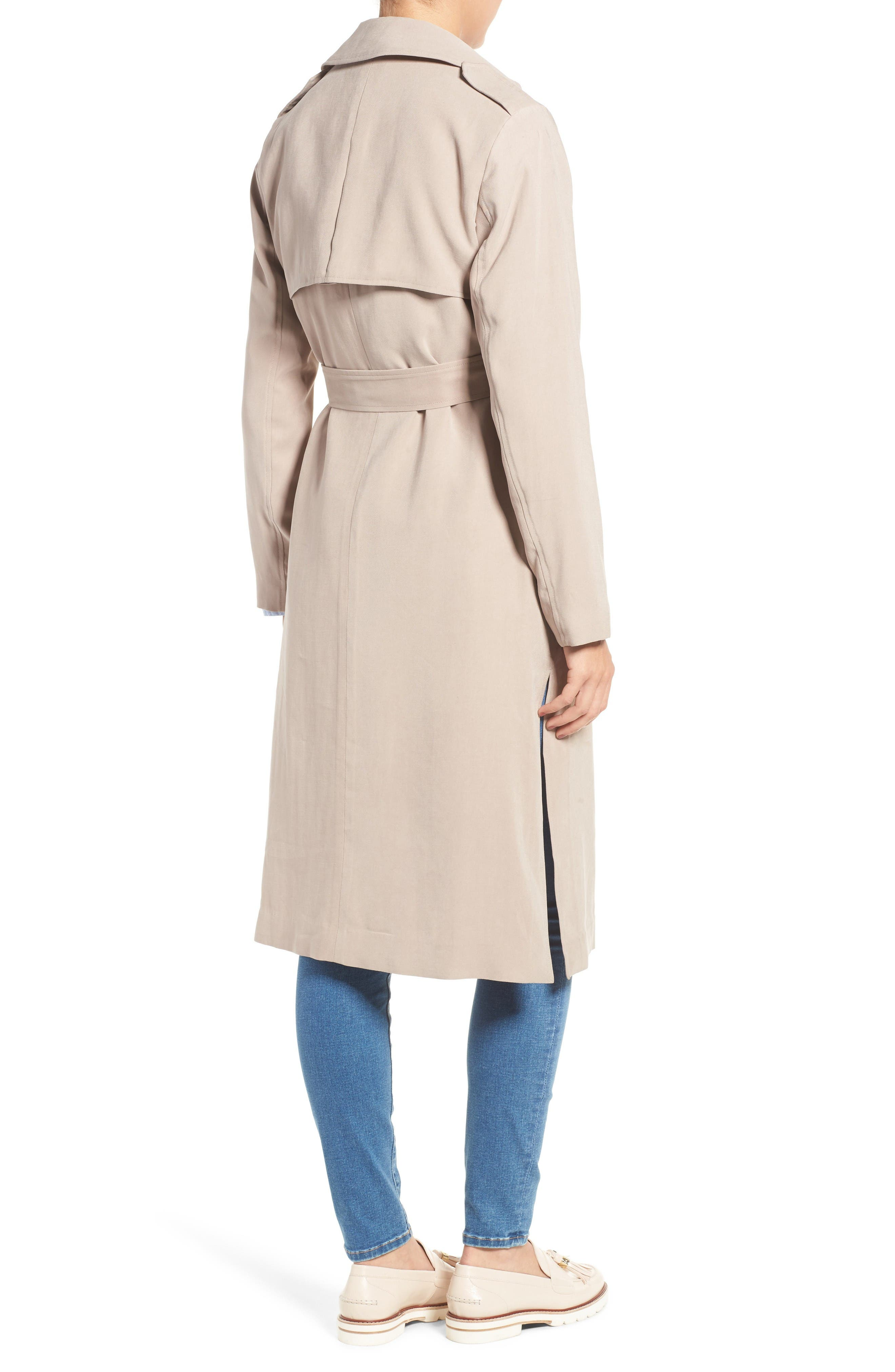 Alternate Image 2  - Cole Haan Signature Long Drapey Trench Coat